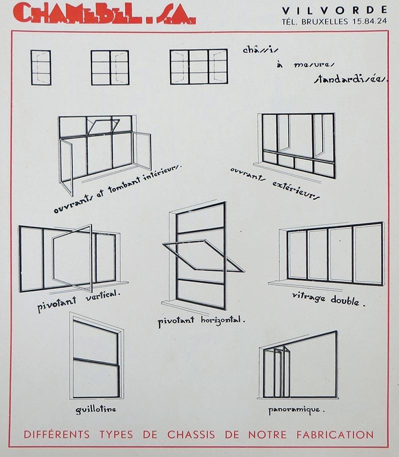Différentes formes de fenêtres