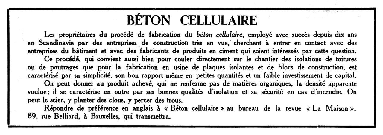 Béton cellulaire
