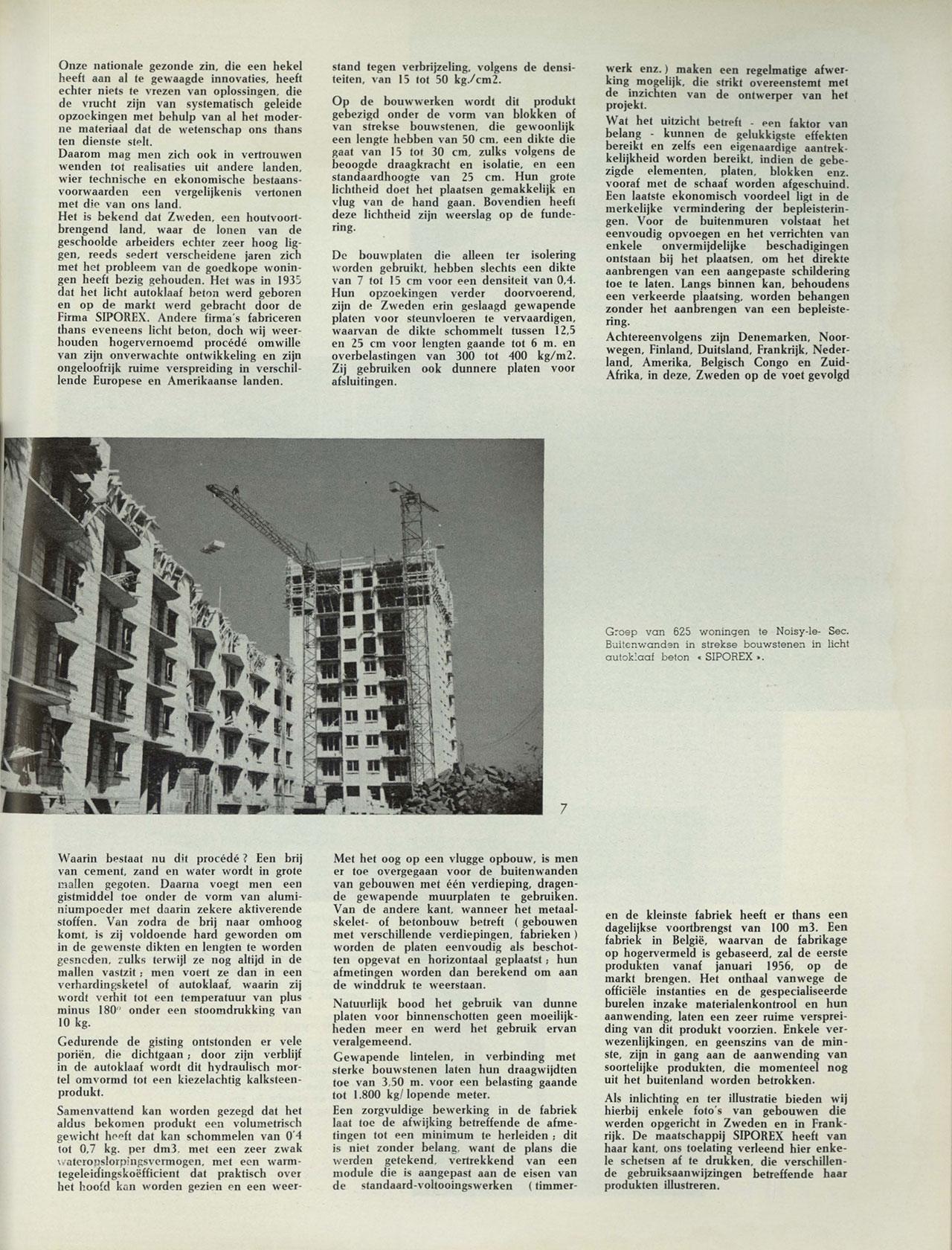 Siporex, lichte betonelementen
