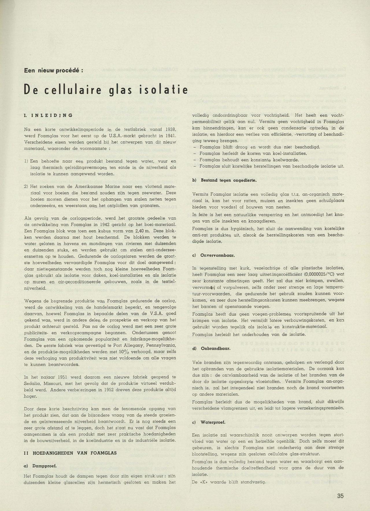 Een nieuw procédé: de cellulaire glas isolatie