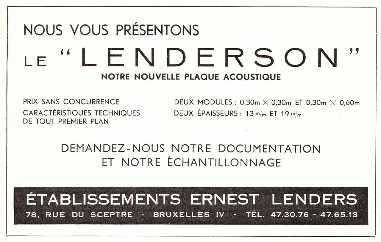 Plaques Acoustiques Lenderson