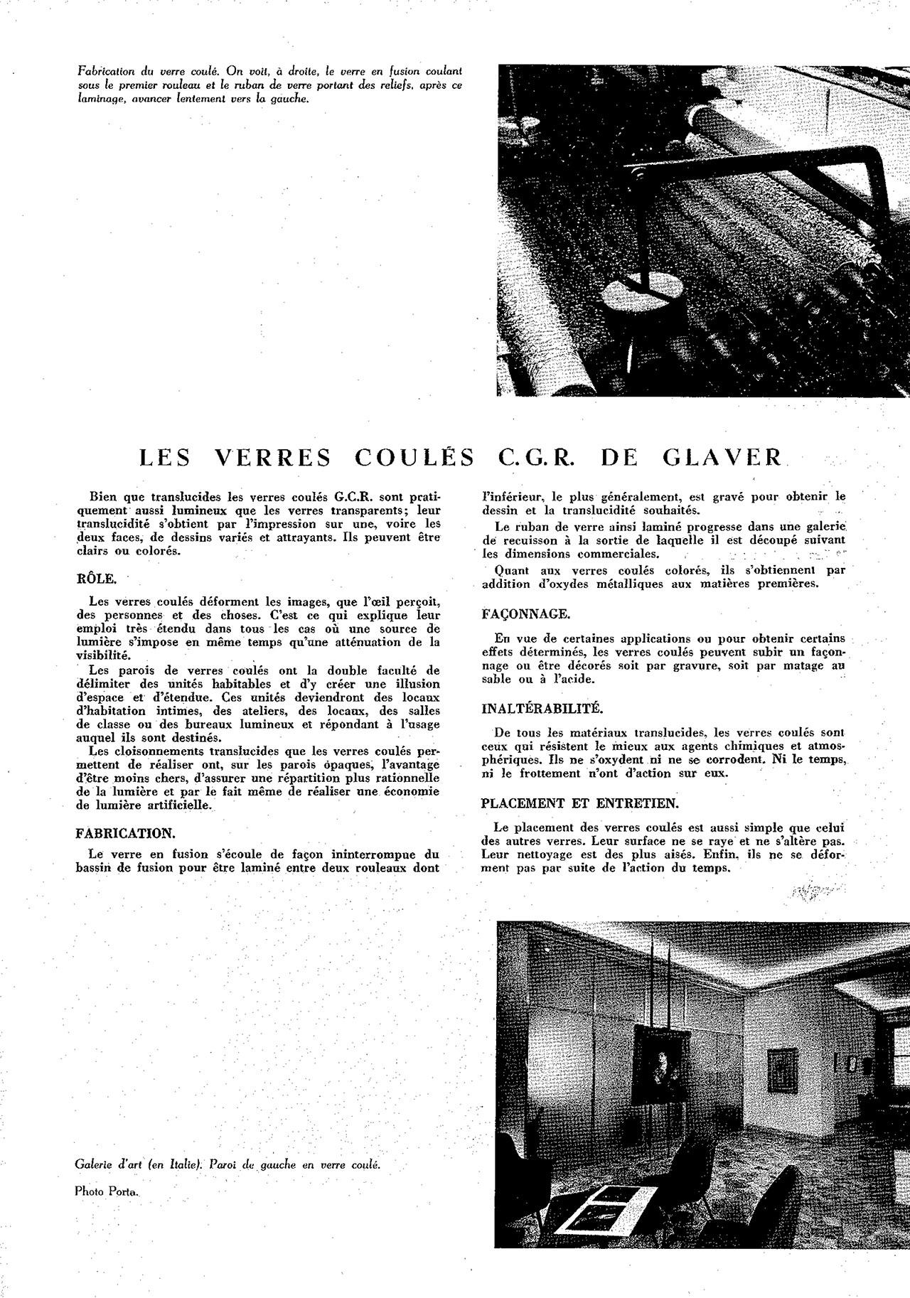 Cahier technique de glaver, un ruban de verre autour du monde