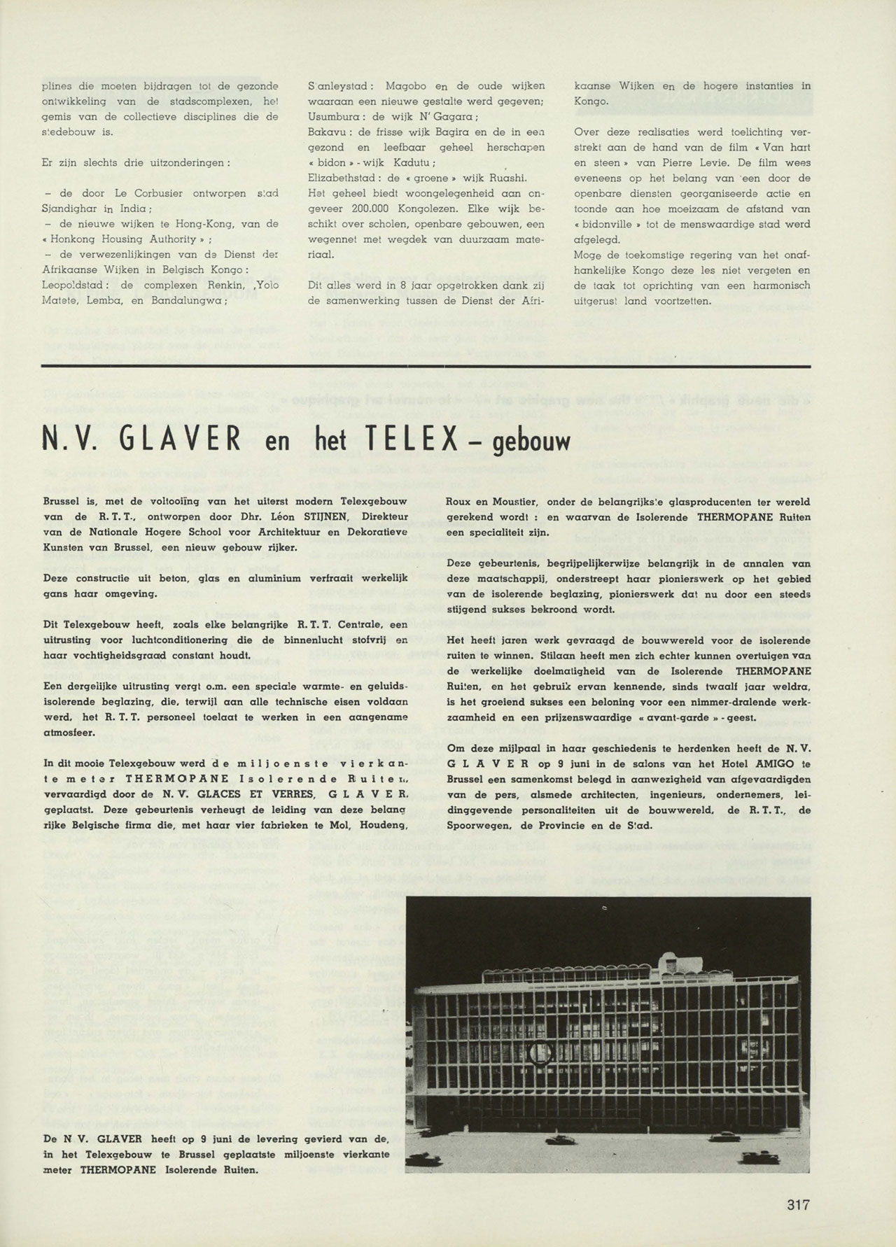 N.V. Glaver en het Telex-gebouw