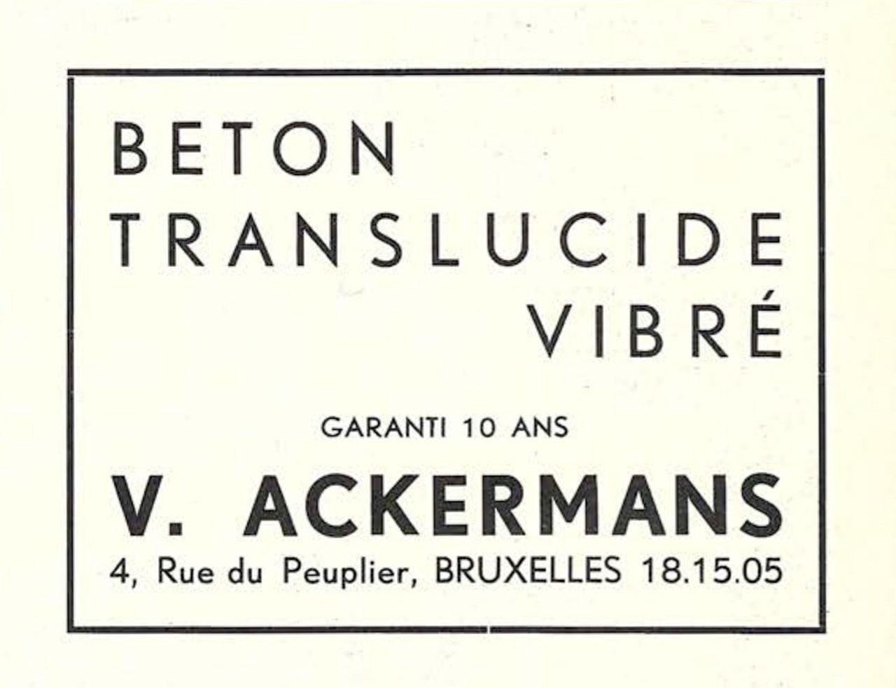 Béton Translucide Vibré