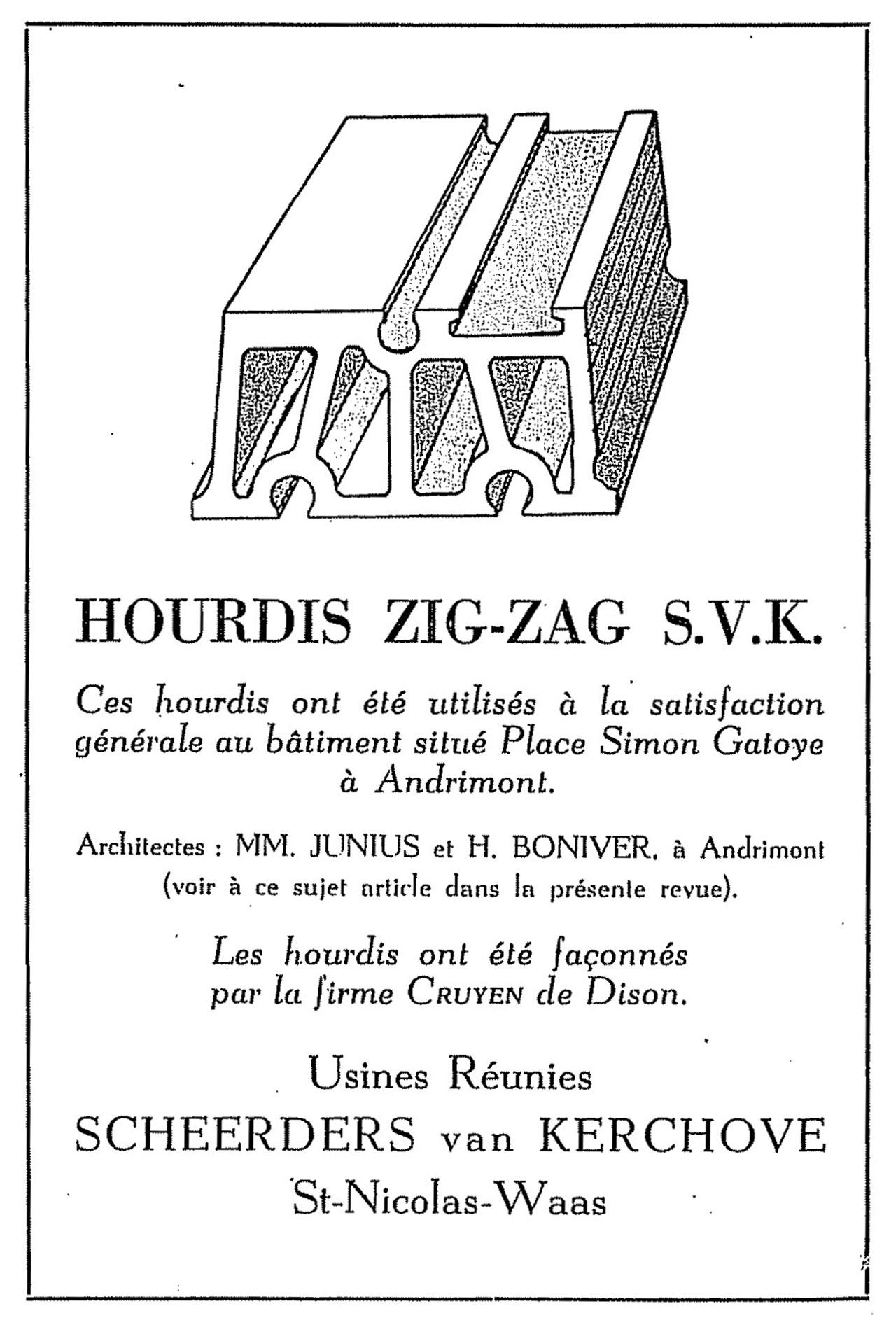 Hourdis Zig-Zag