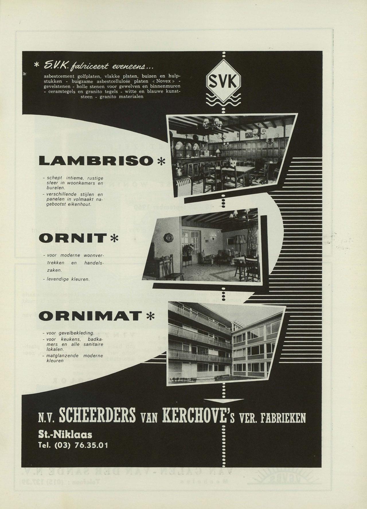 Lambriso, Ornit, Ornimat