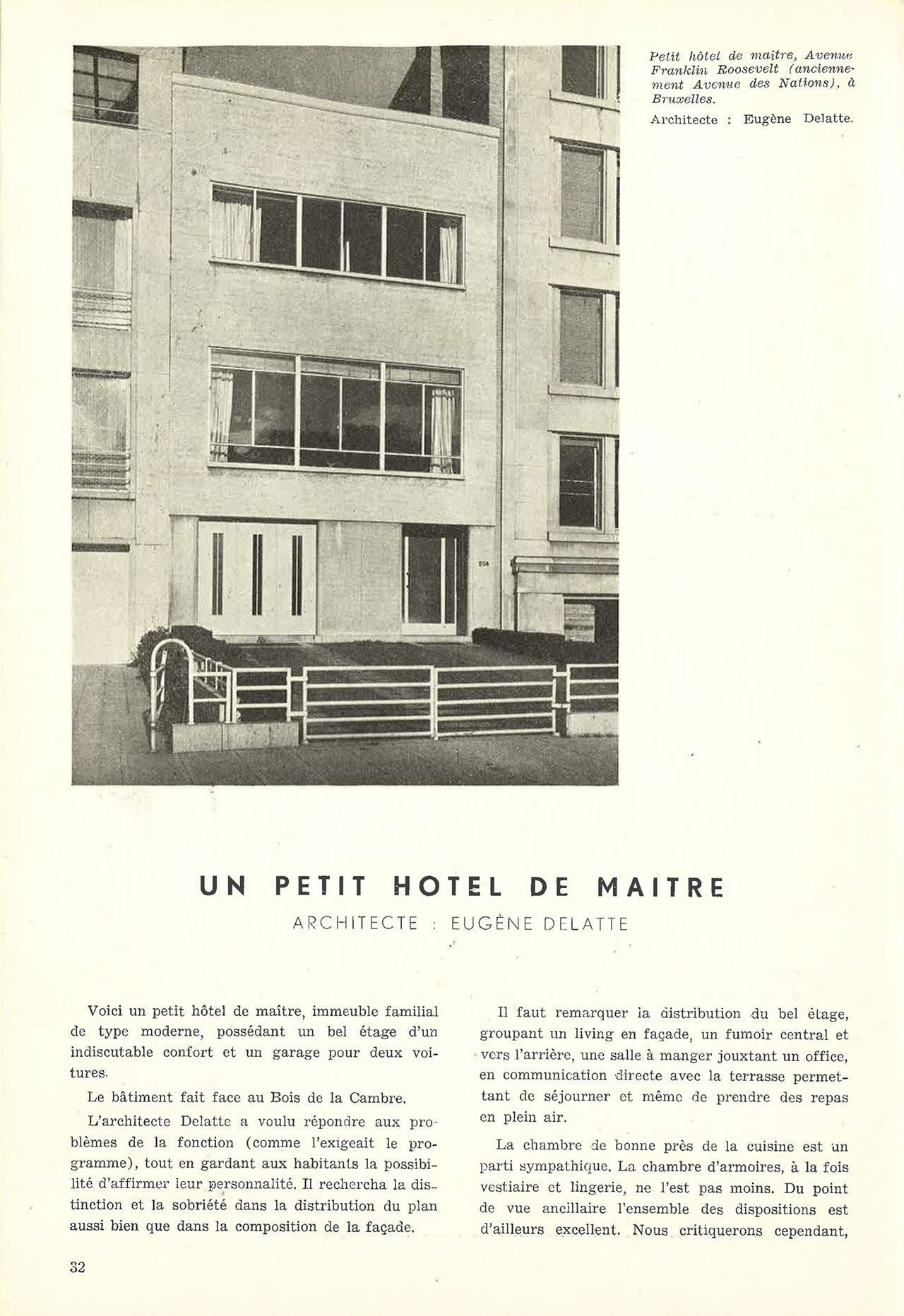 Un petit hôtel de maître
