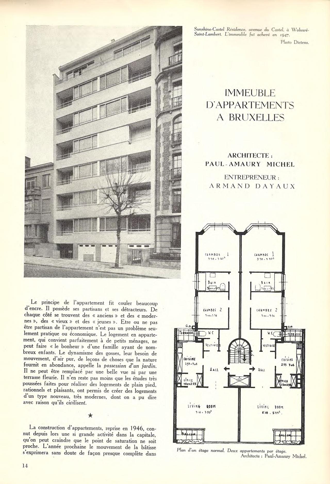 Immeuble d'appartements à Bruxelles