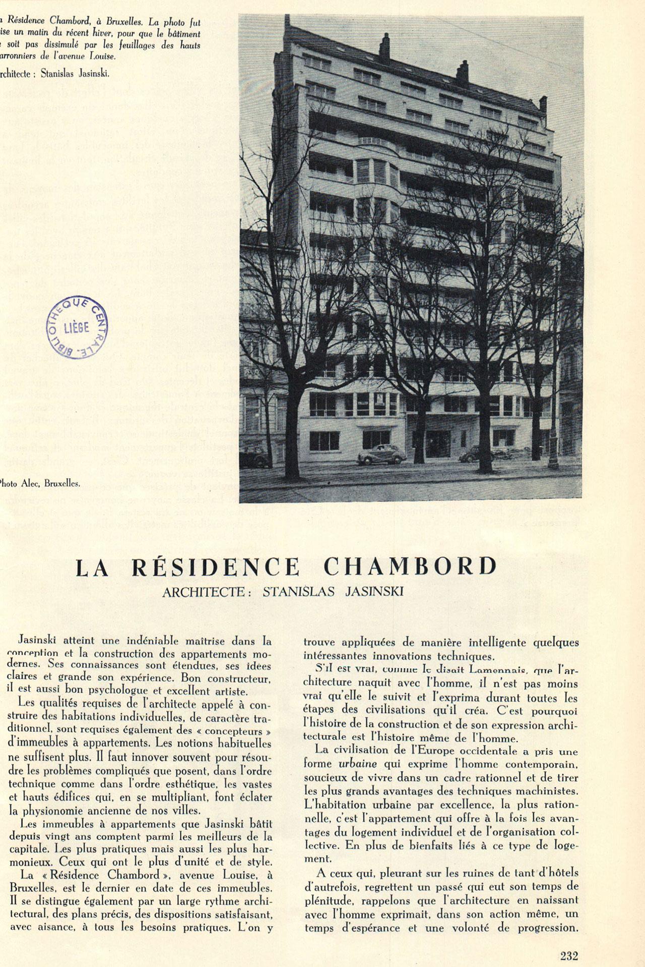 La résidence Chambord