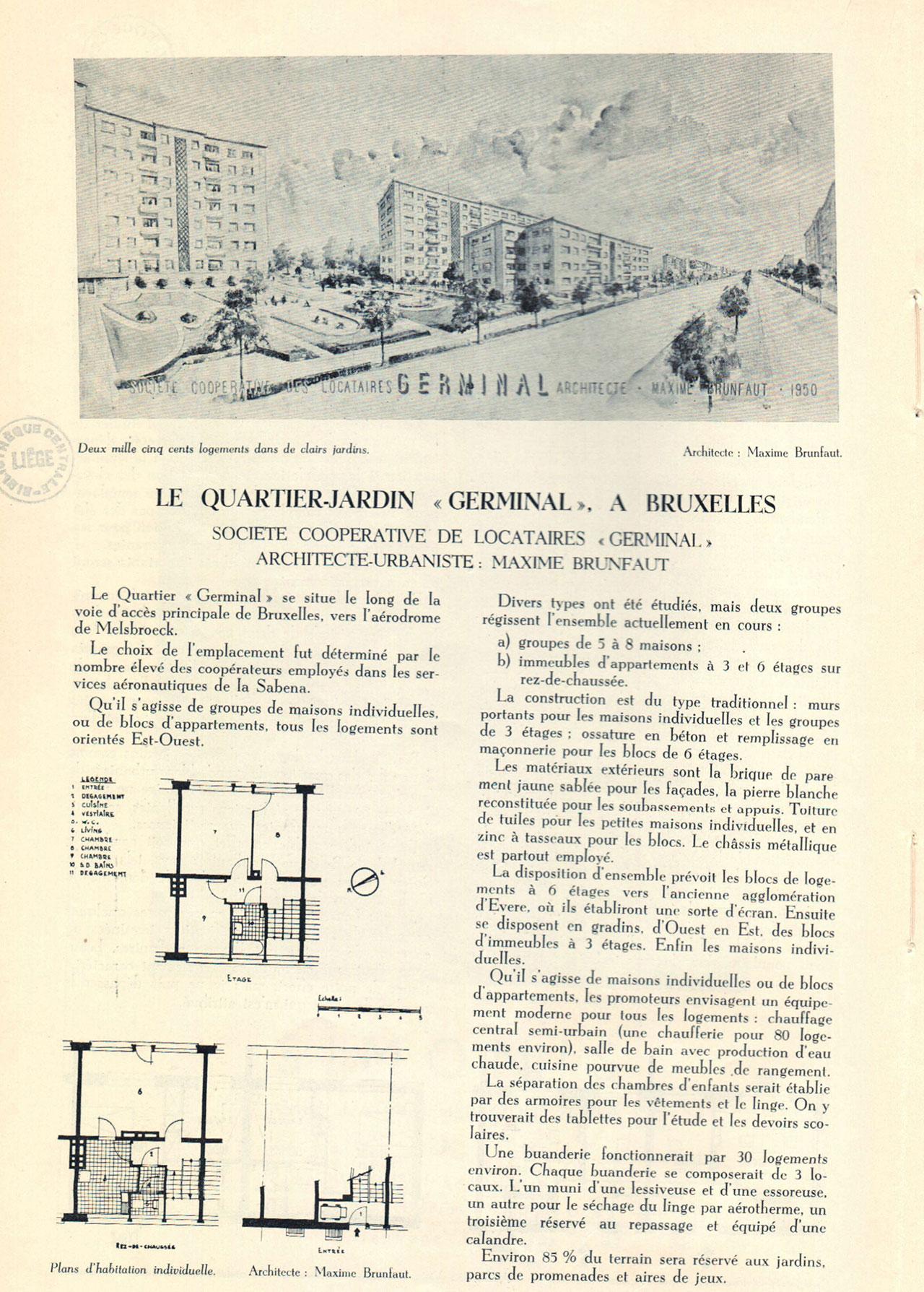 Le quartier-jardin «Germinal», à Bruxelles