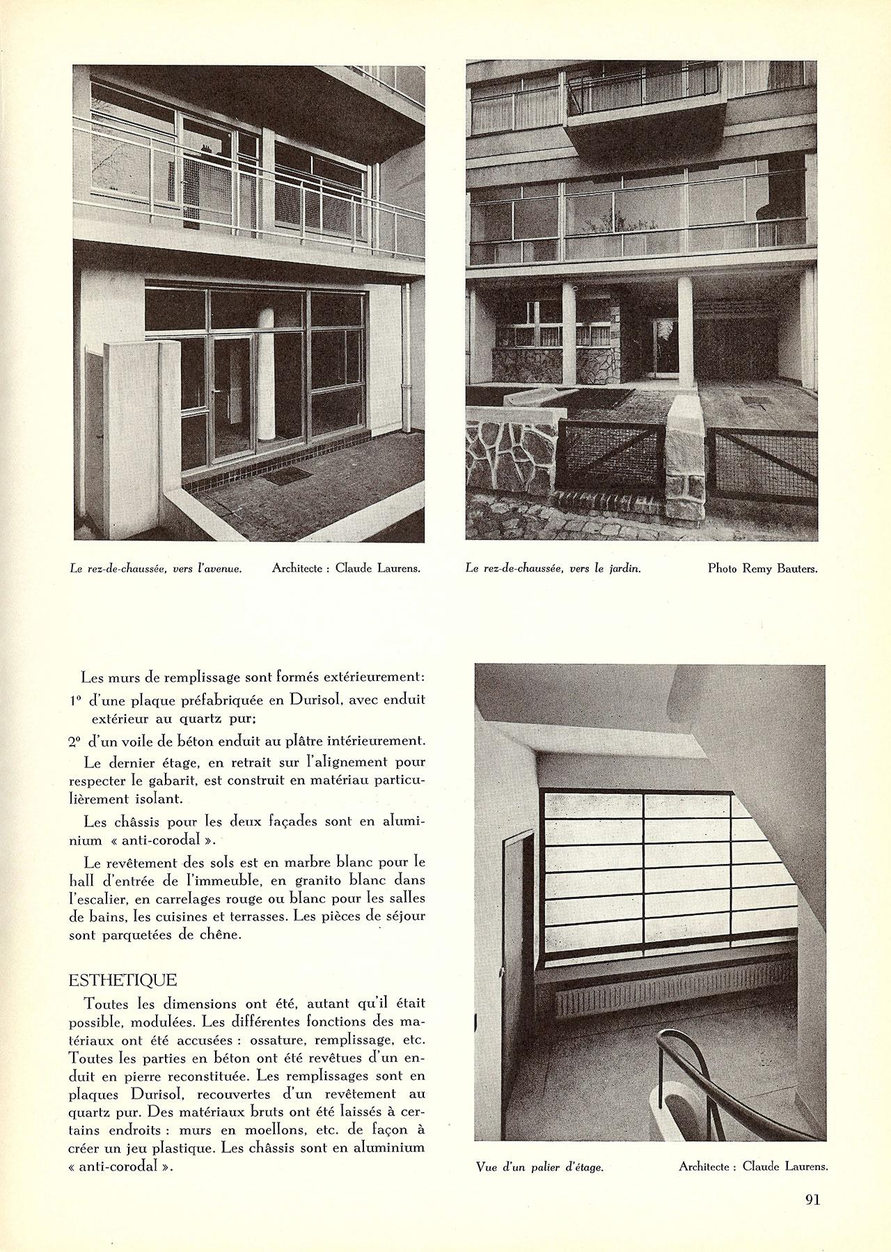 Immeuble à appartements, Av. Jeanne à Bruxelles