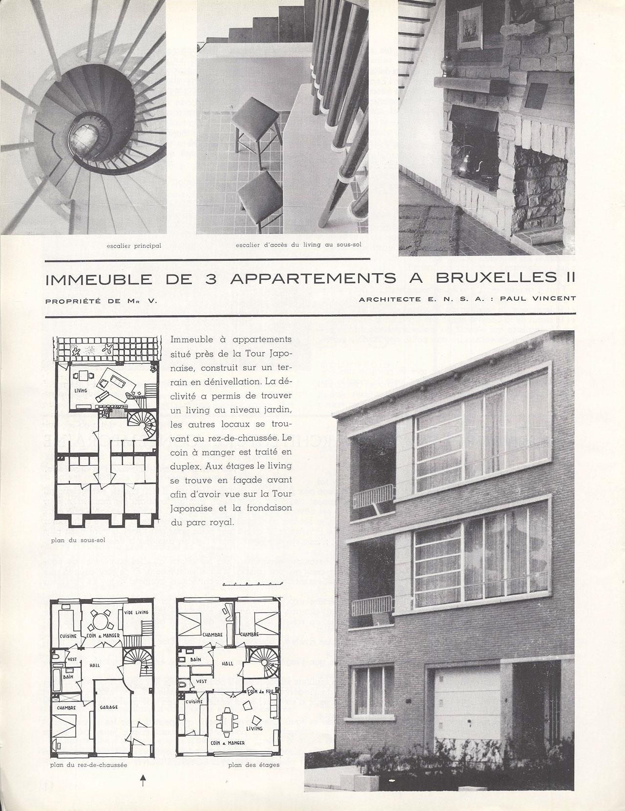 Immeuble de 3 Appartements à Bruxelles