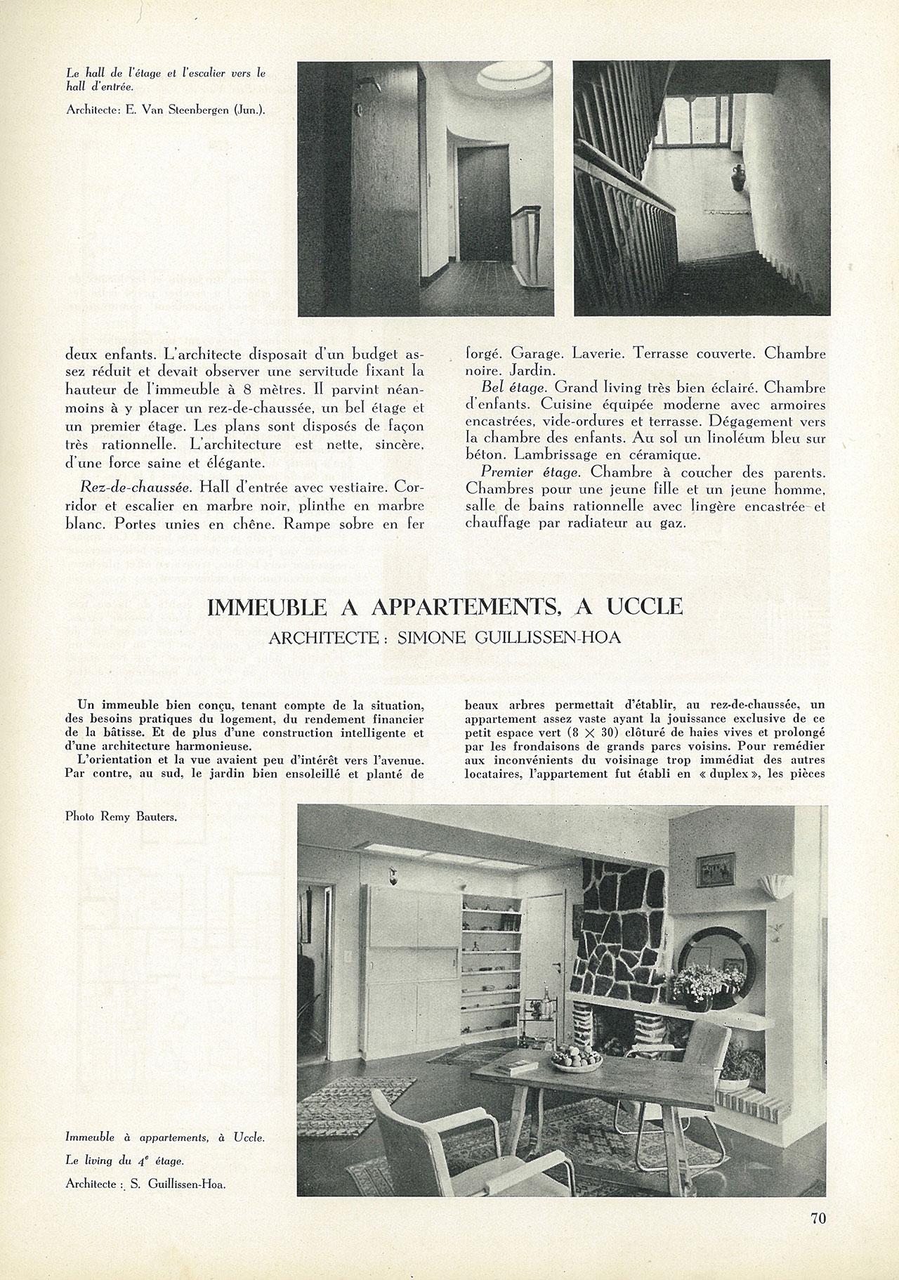 Immeuble à appartements, à Uccle