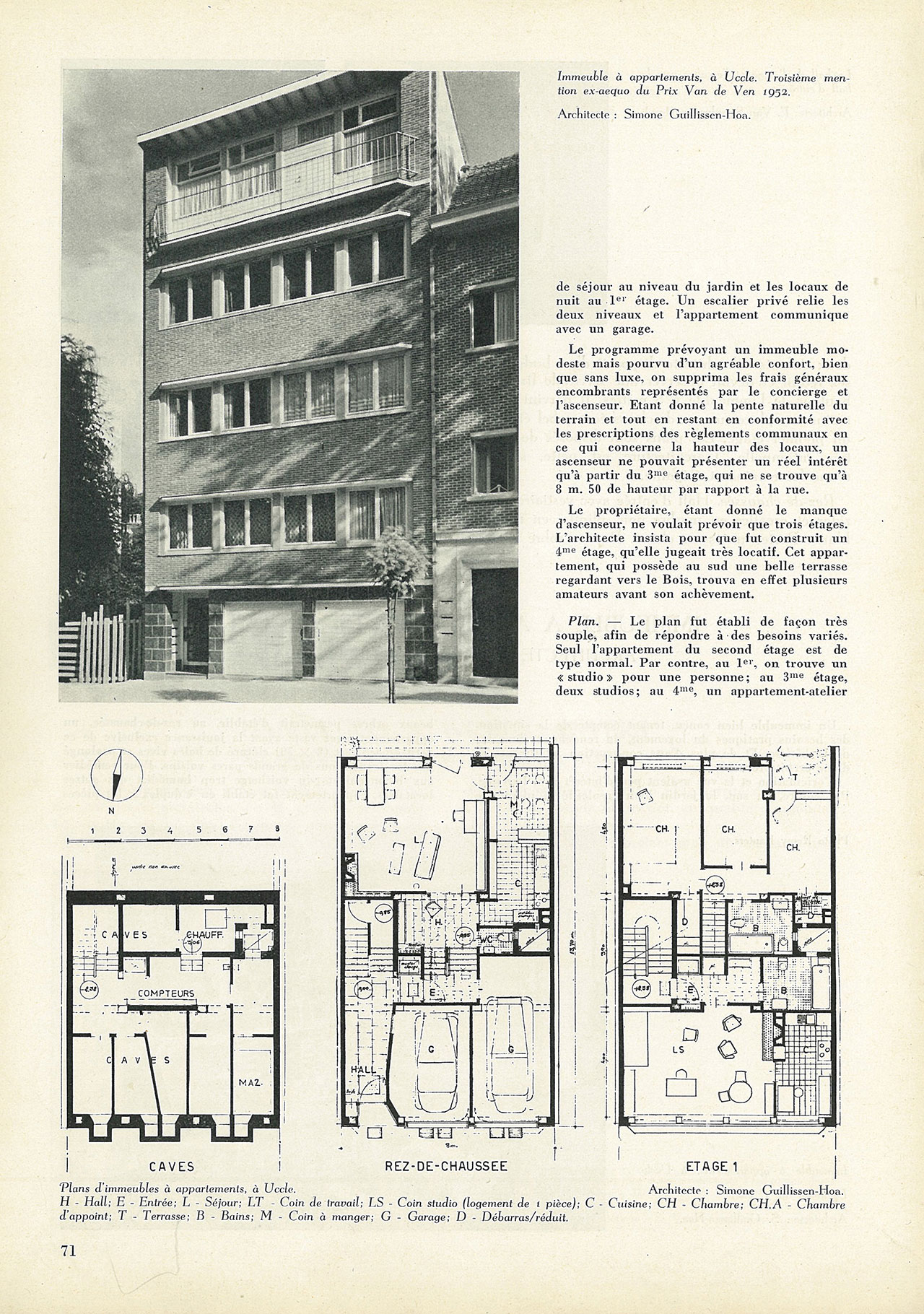 Immeuble à appartements, à Uccle