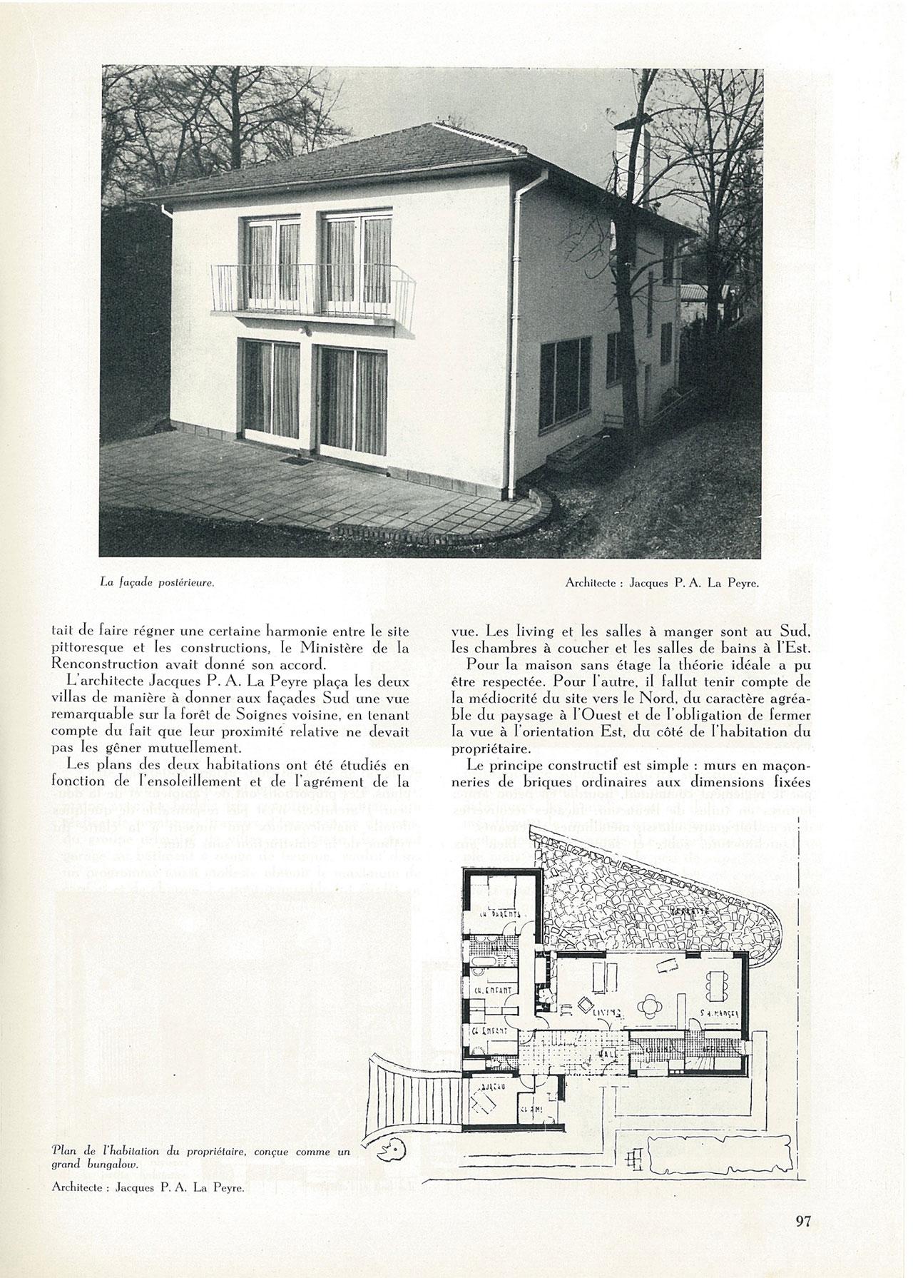 Deux villas à Boitsfort
