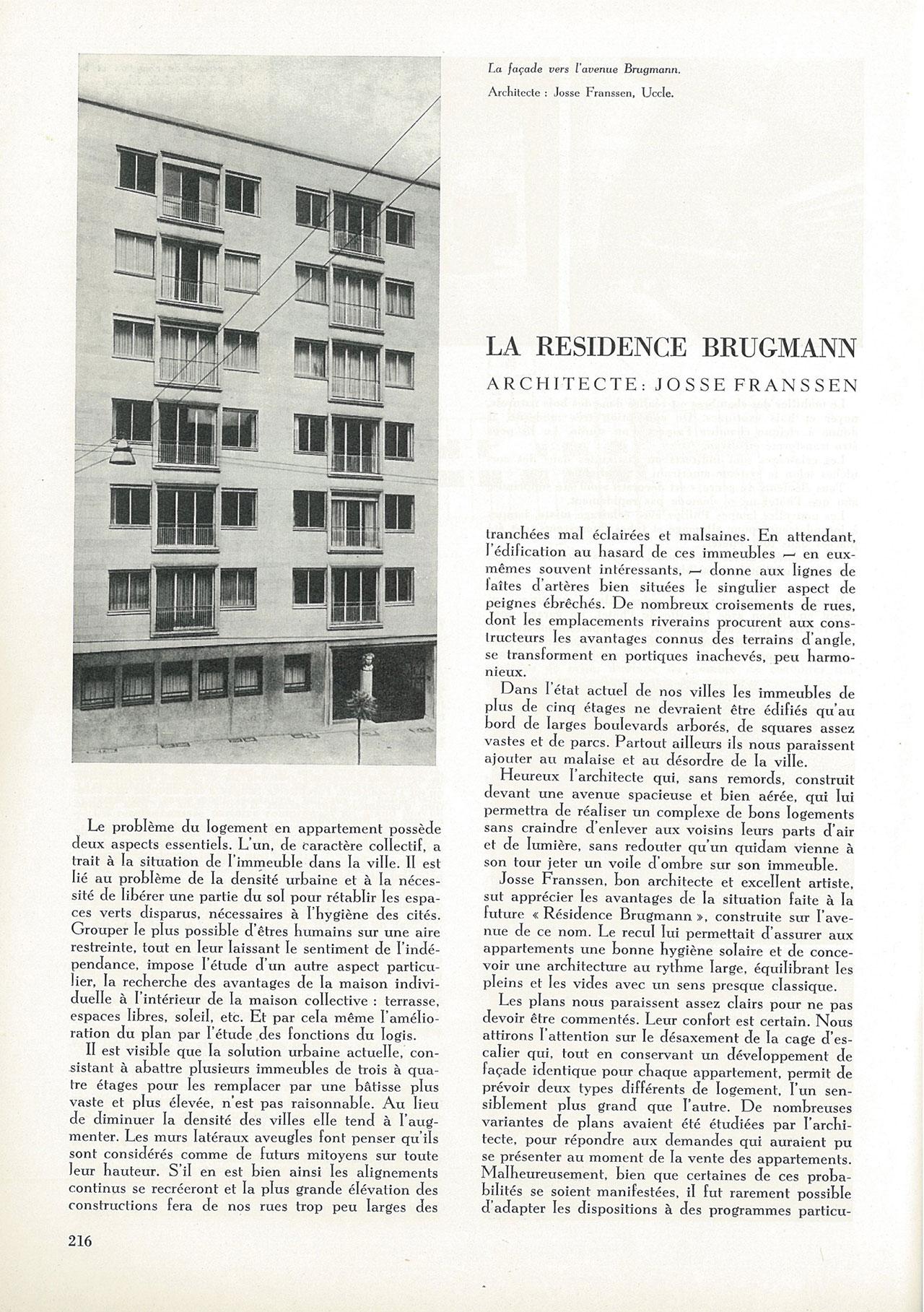 La résidence Brugmann