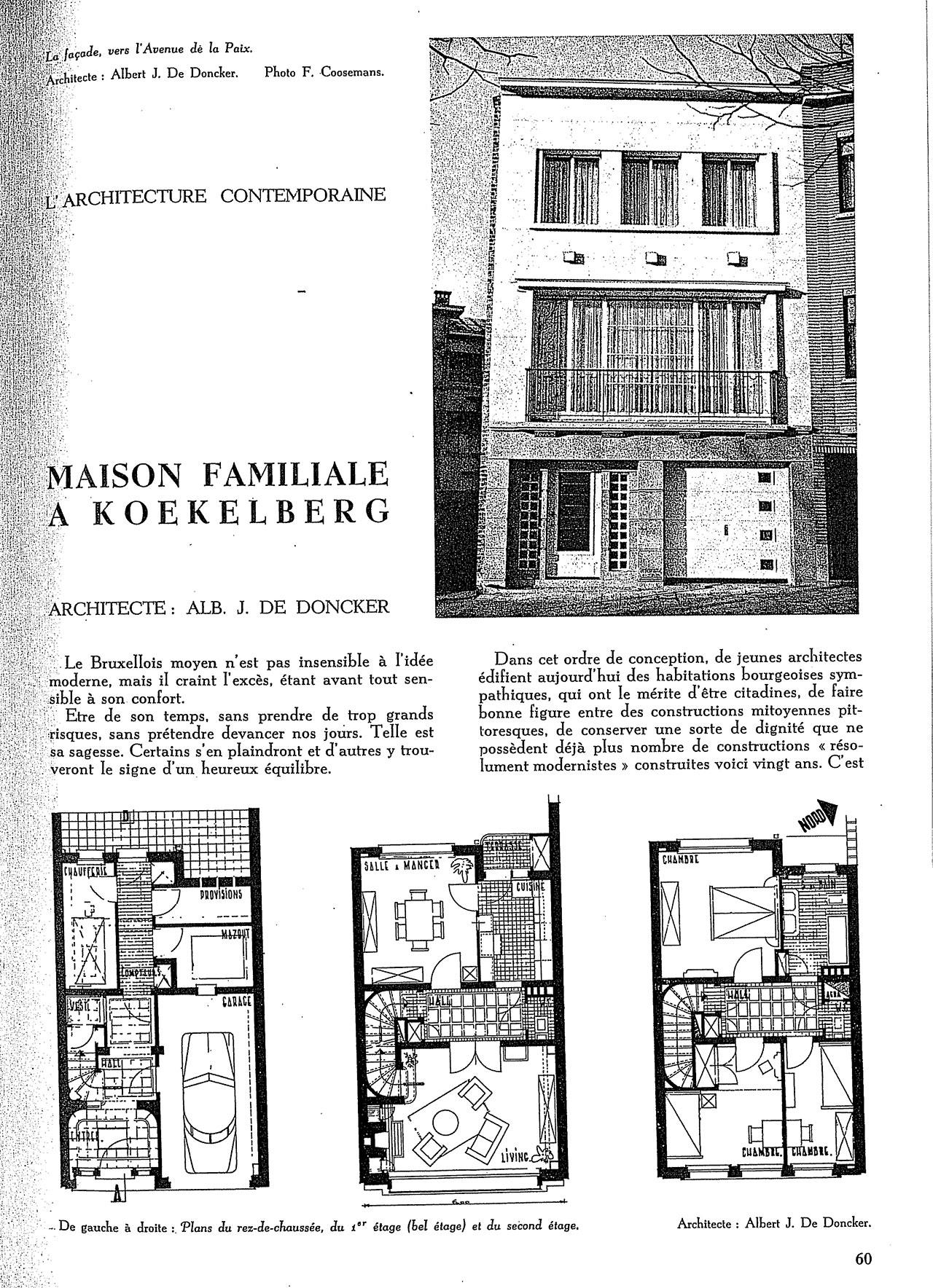 Maison familiale à Koekelberg