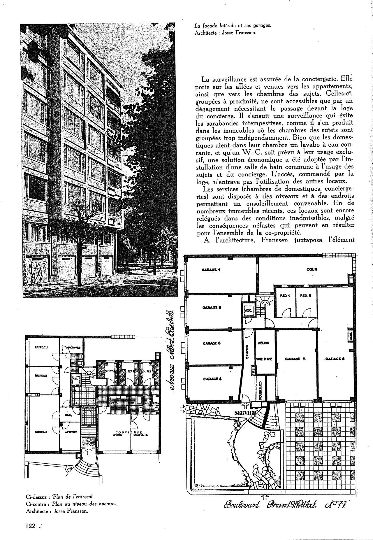 La résidence «Brand Whitlock» à Bruxelles