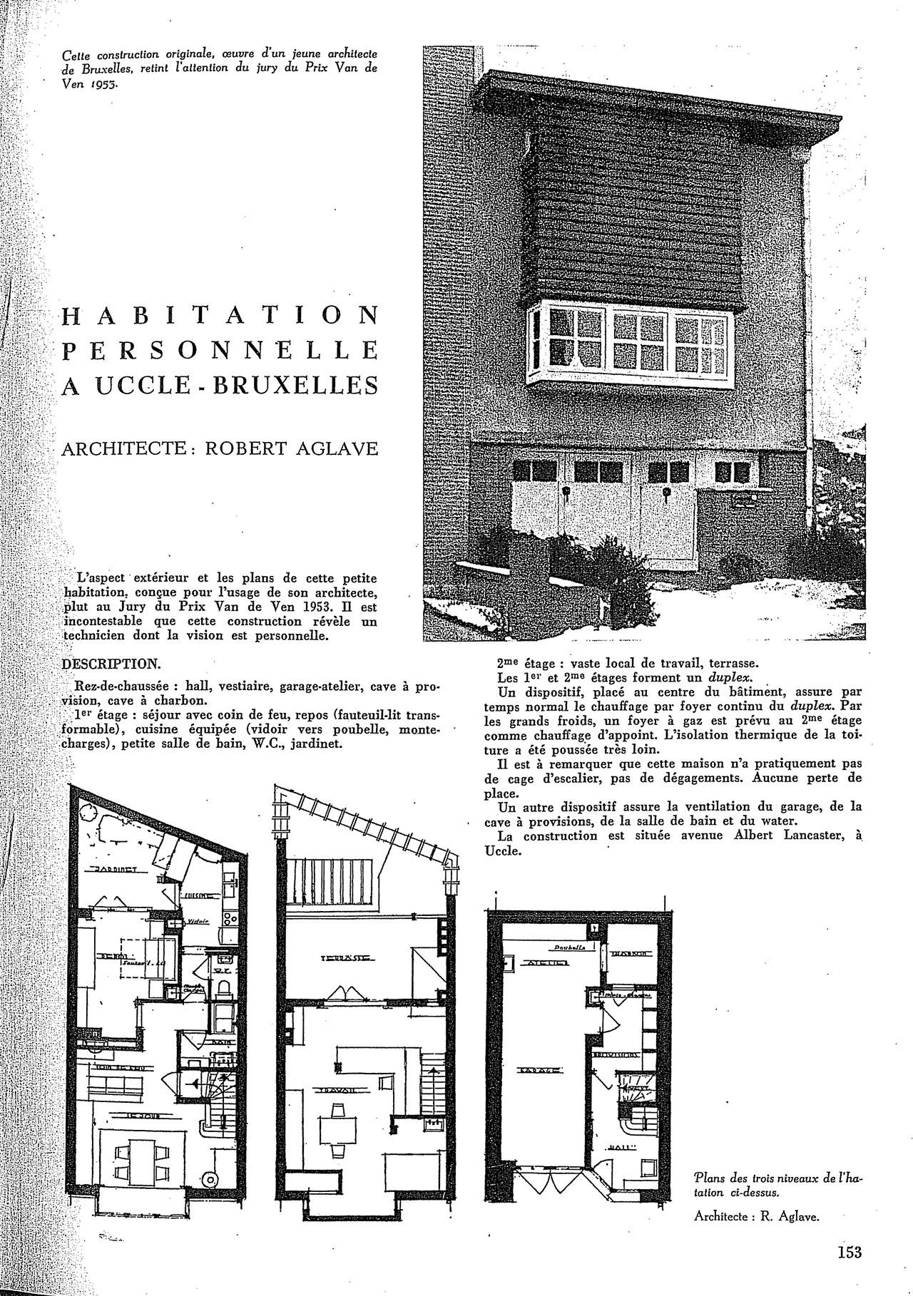 Habitation personelle à Uccle-Bruxelles