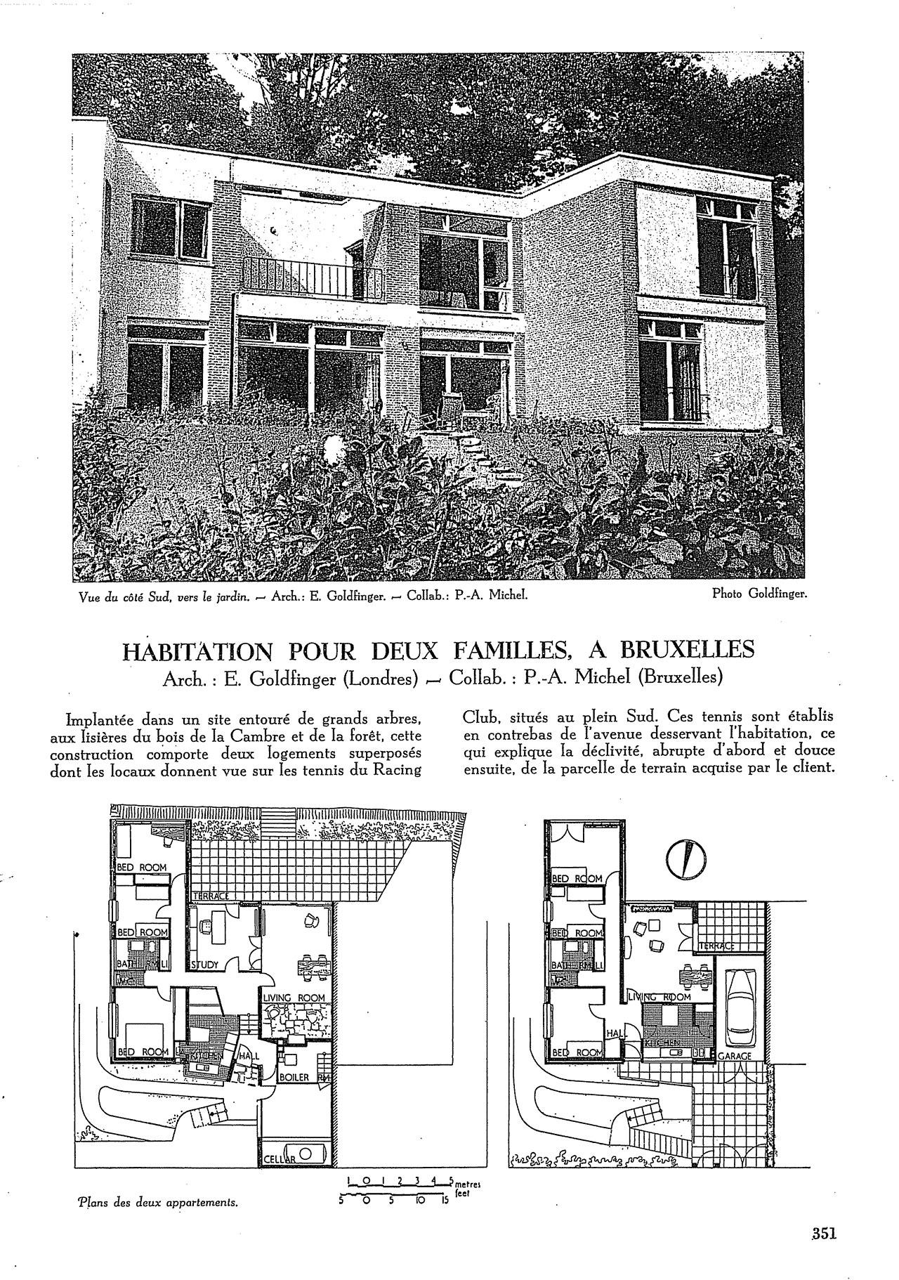 Habitation pour deux familles, à Bruxelles