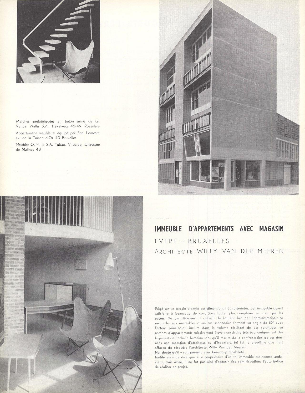 Immeuble d'appartements avec magasin