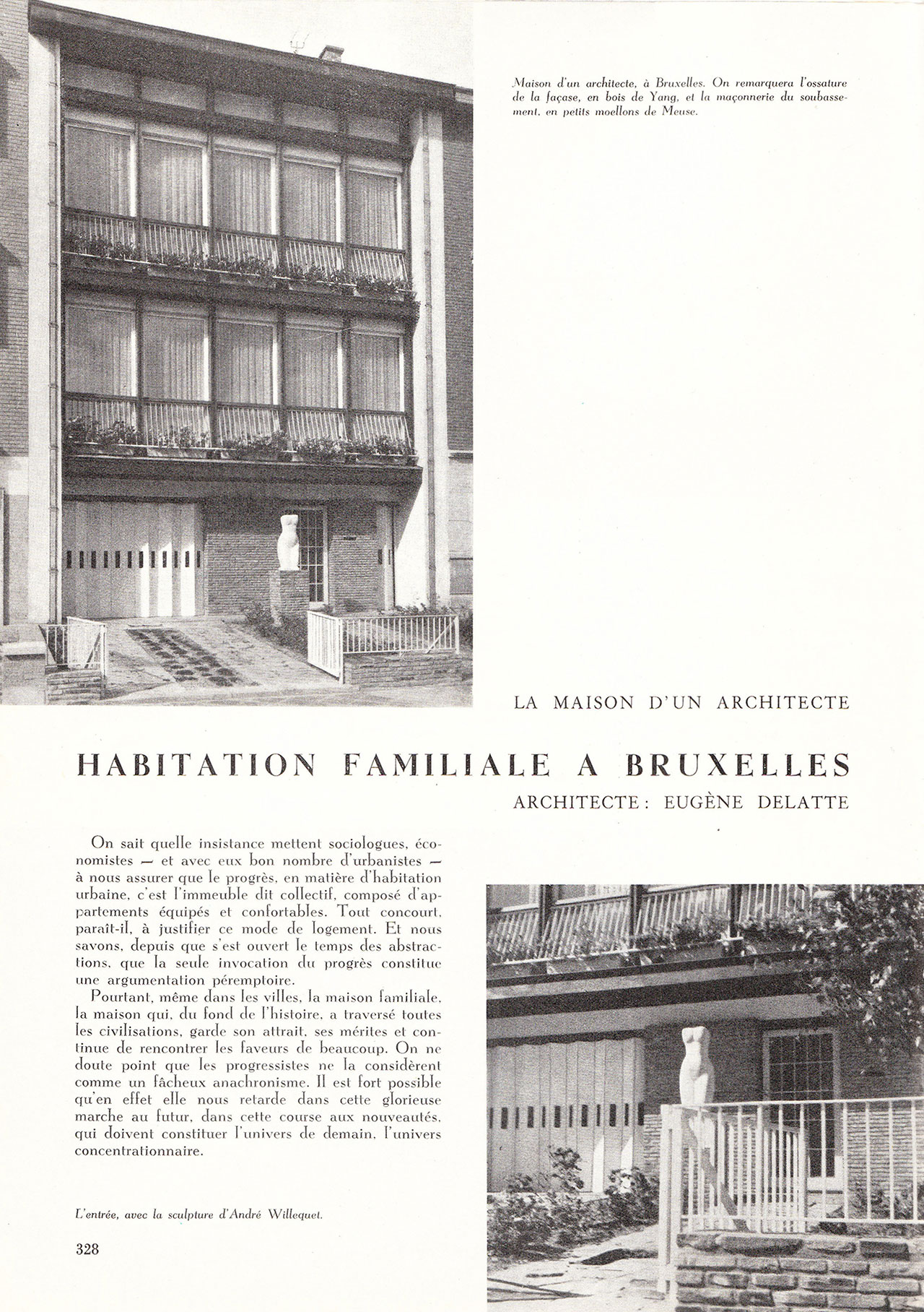 Habitation familiale à Bruxelles