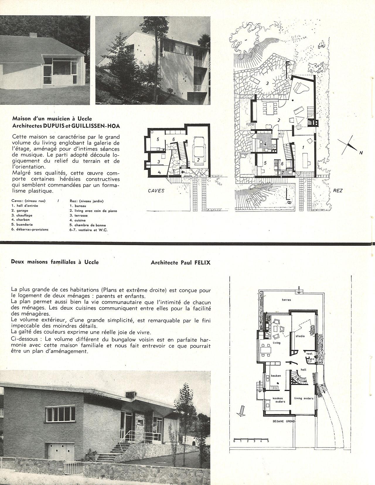 Deux maisons familiales à Uccle