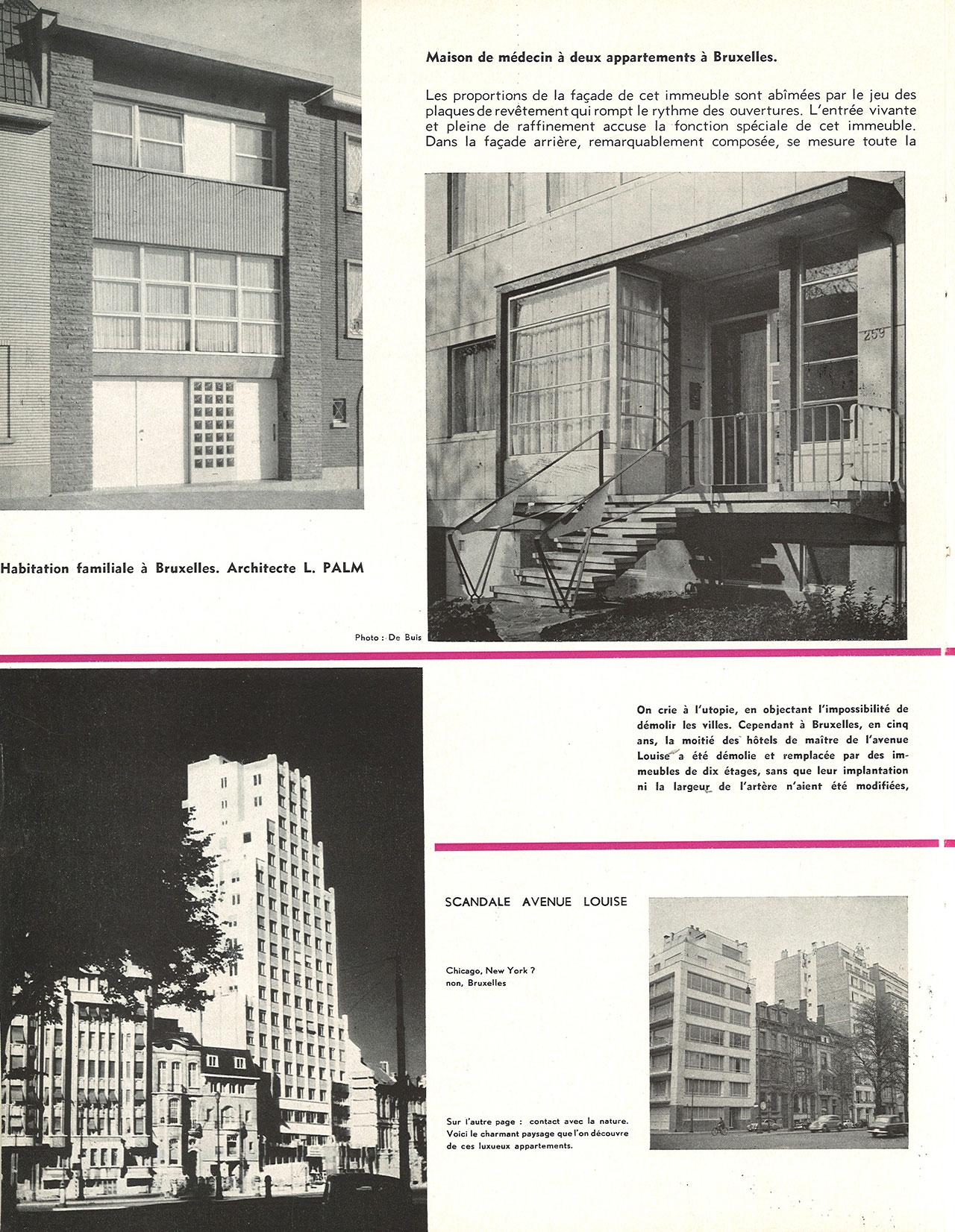 Maison de médecin à deux appartements à Bruxelles