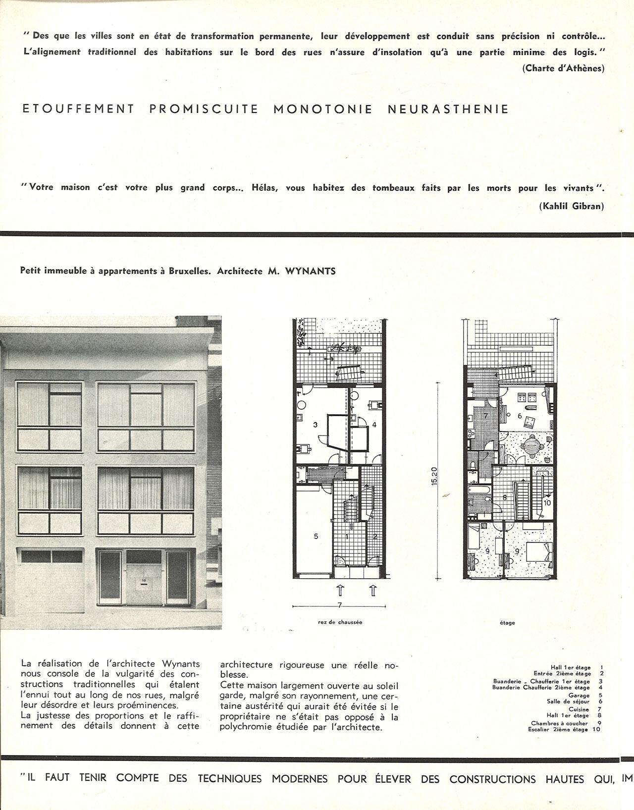 Petit immeuble à appartements à Bruxelles