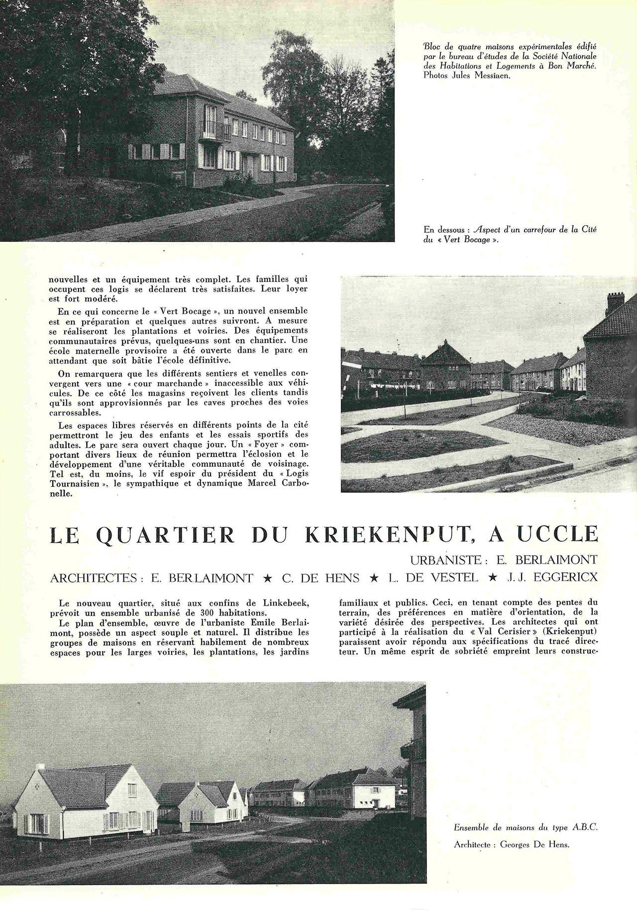Le quartier du Kriekenput, à Uccle