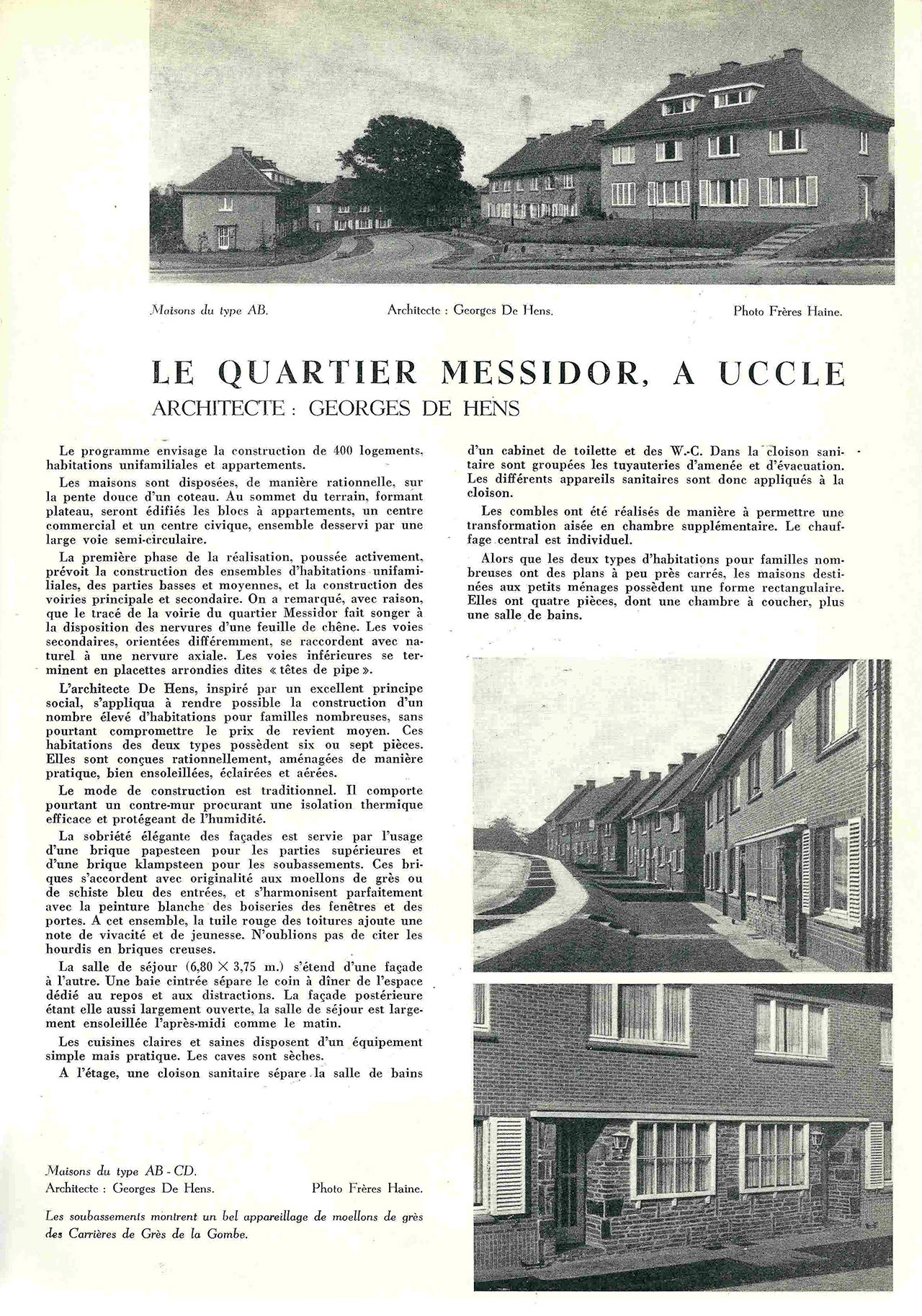 Le quartier Messidor, à Uccle