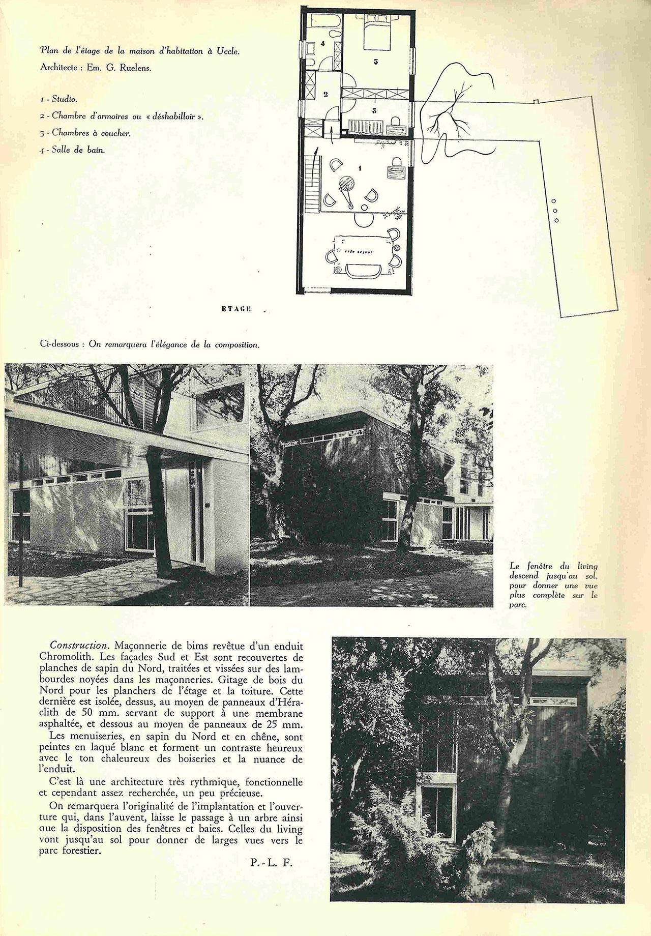 Maison d'habitation, à Uccle