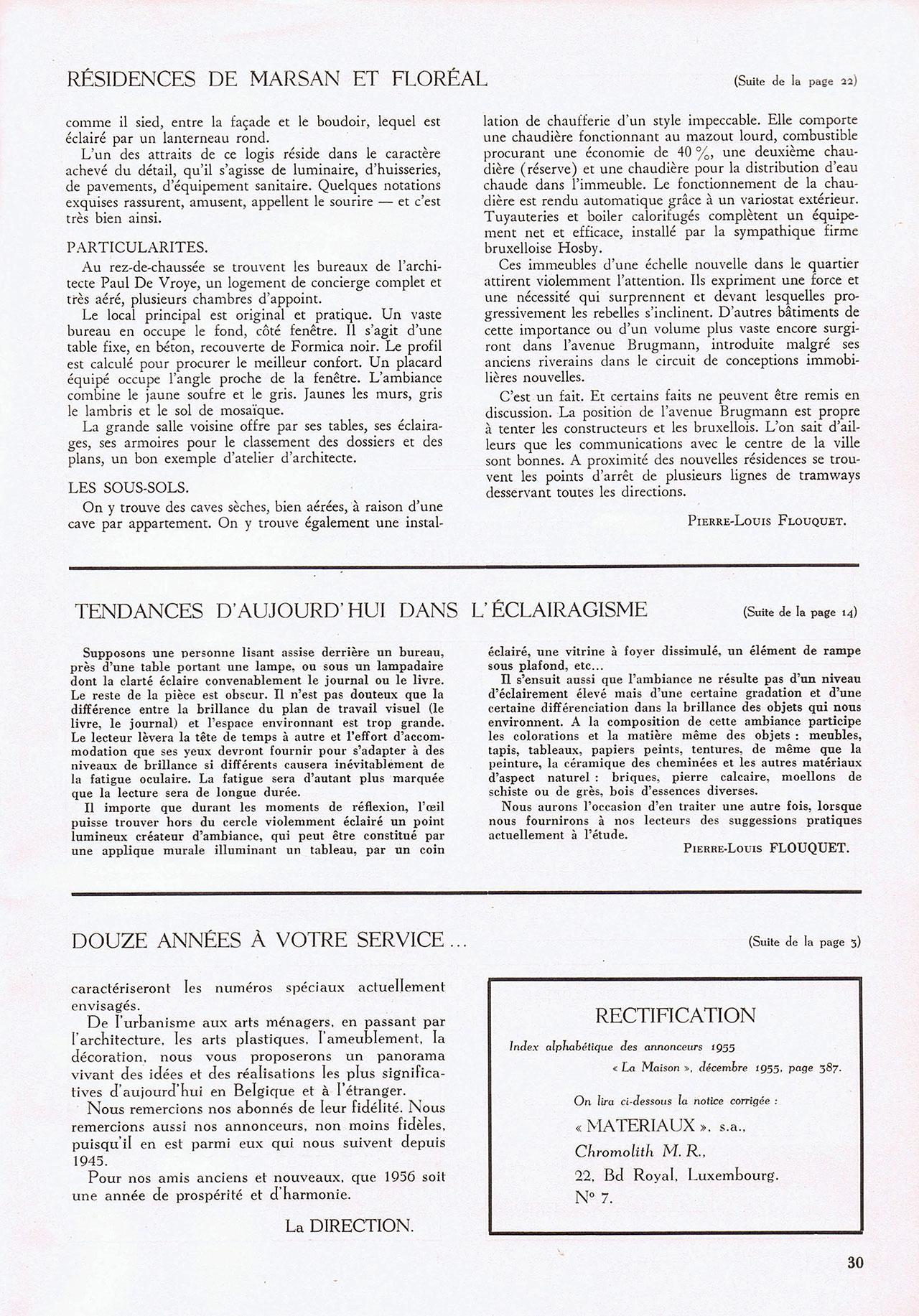 Résidences de Marsan et de Floréal