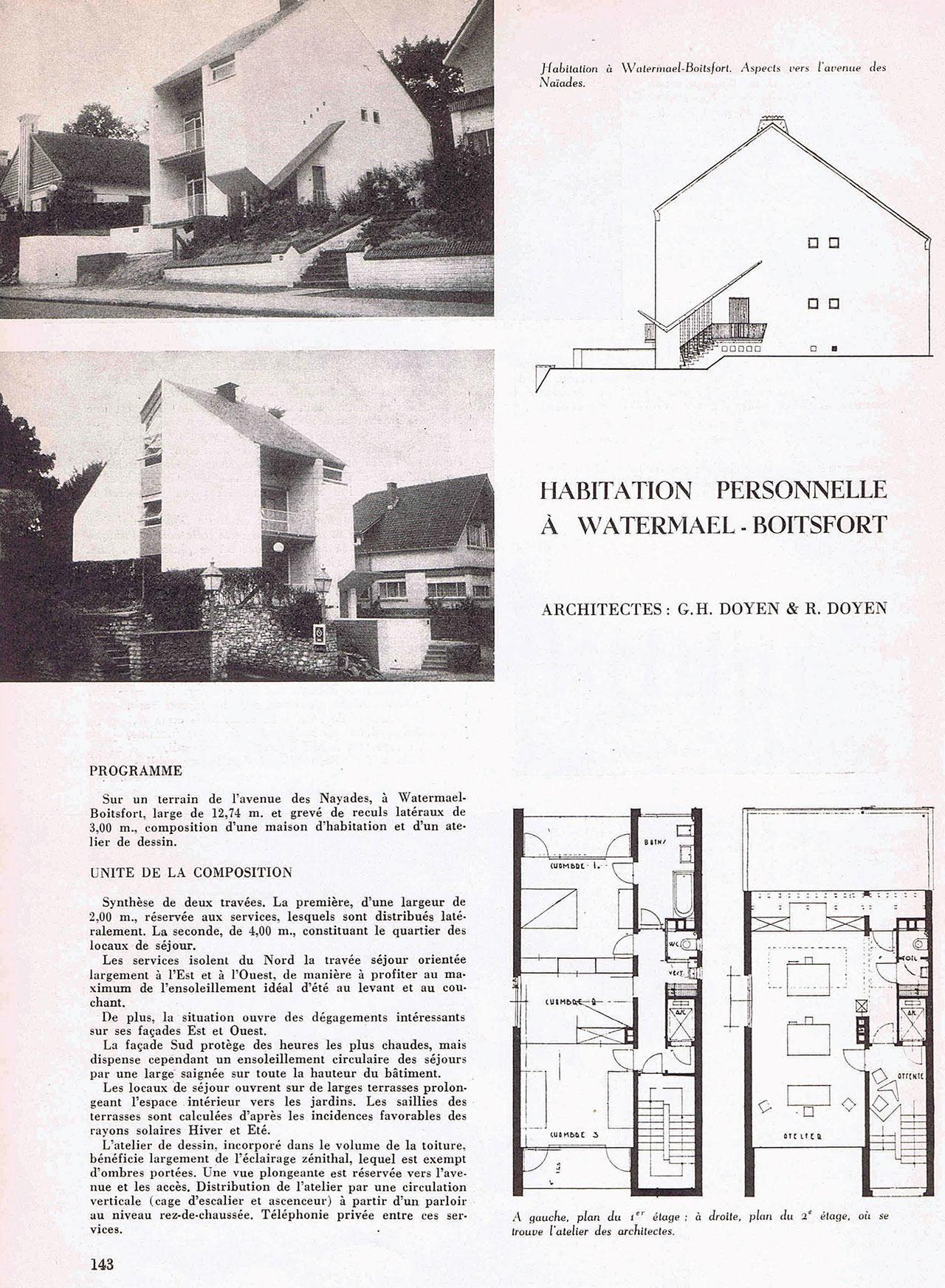 Habitation personelle à Watermael-Boitsfort