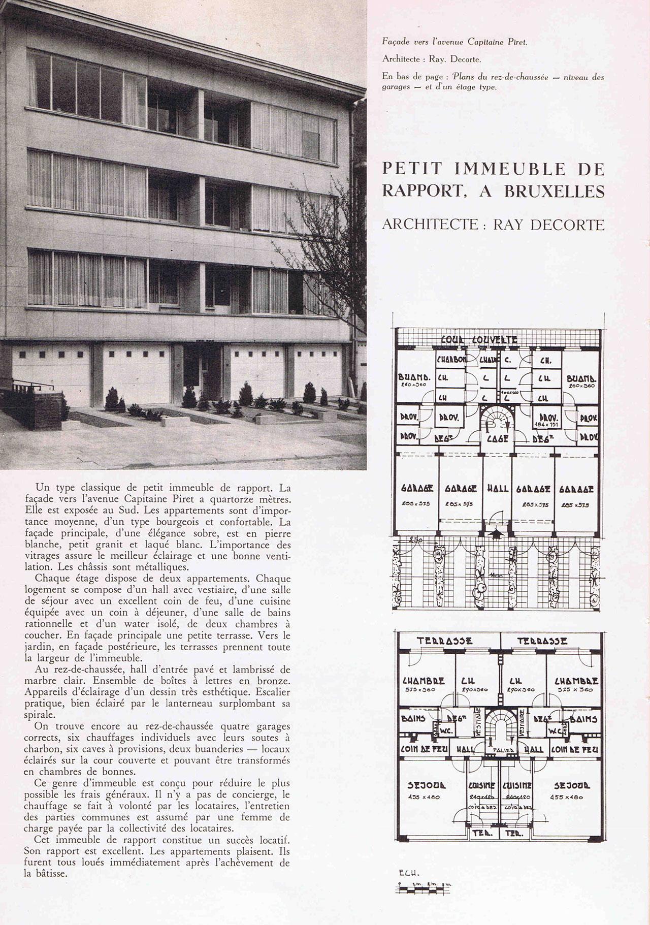 Petit immeuble de rapport, à Bruxelles