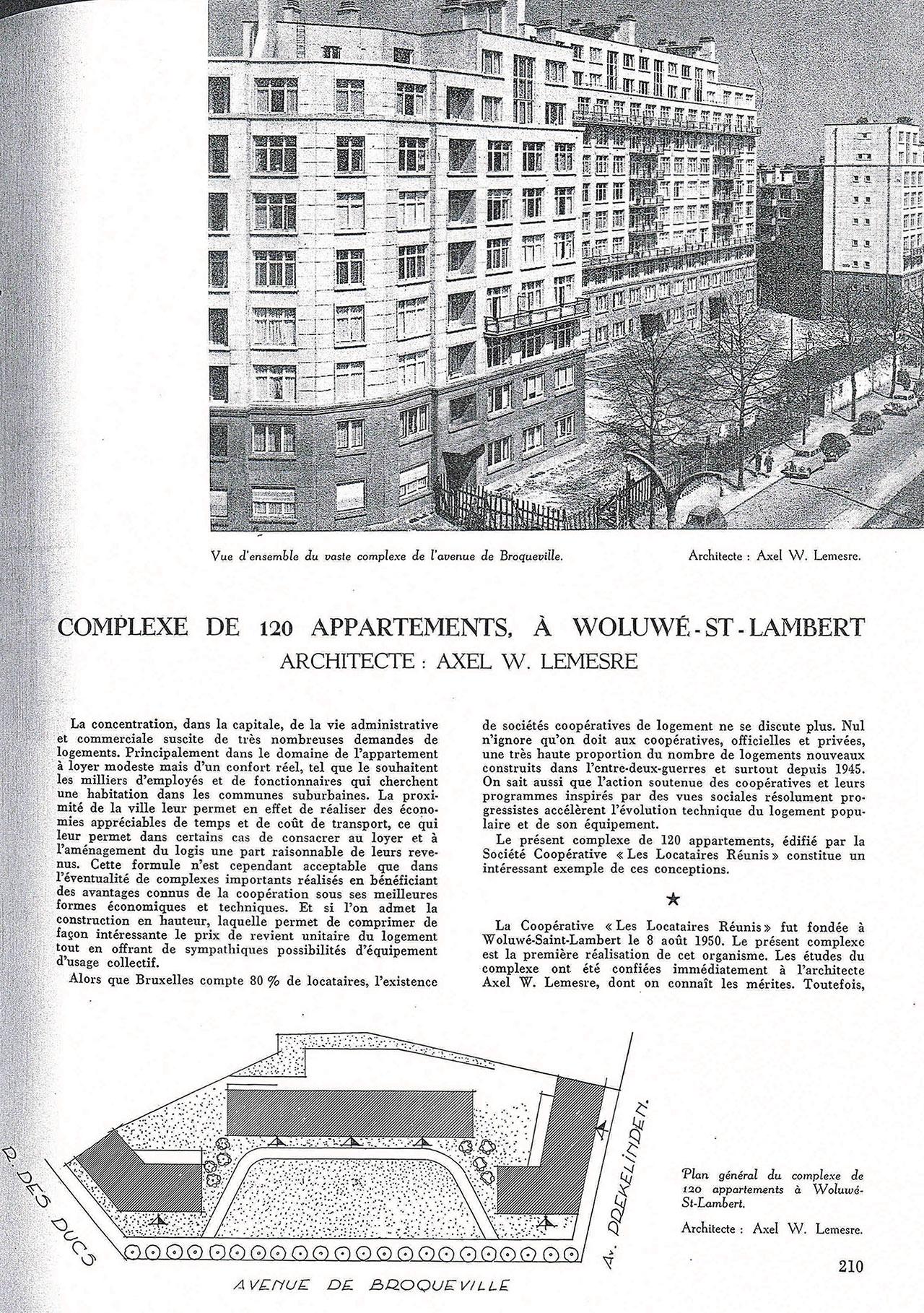 Complexe de 120 appartements, à Woluwé-St-Lambert
