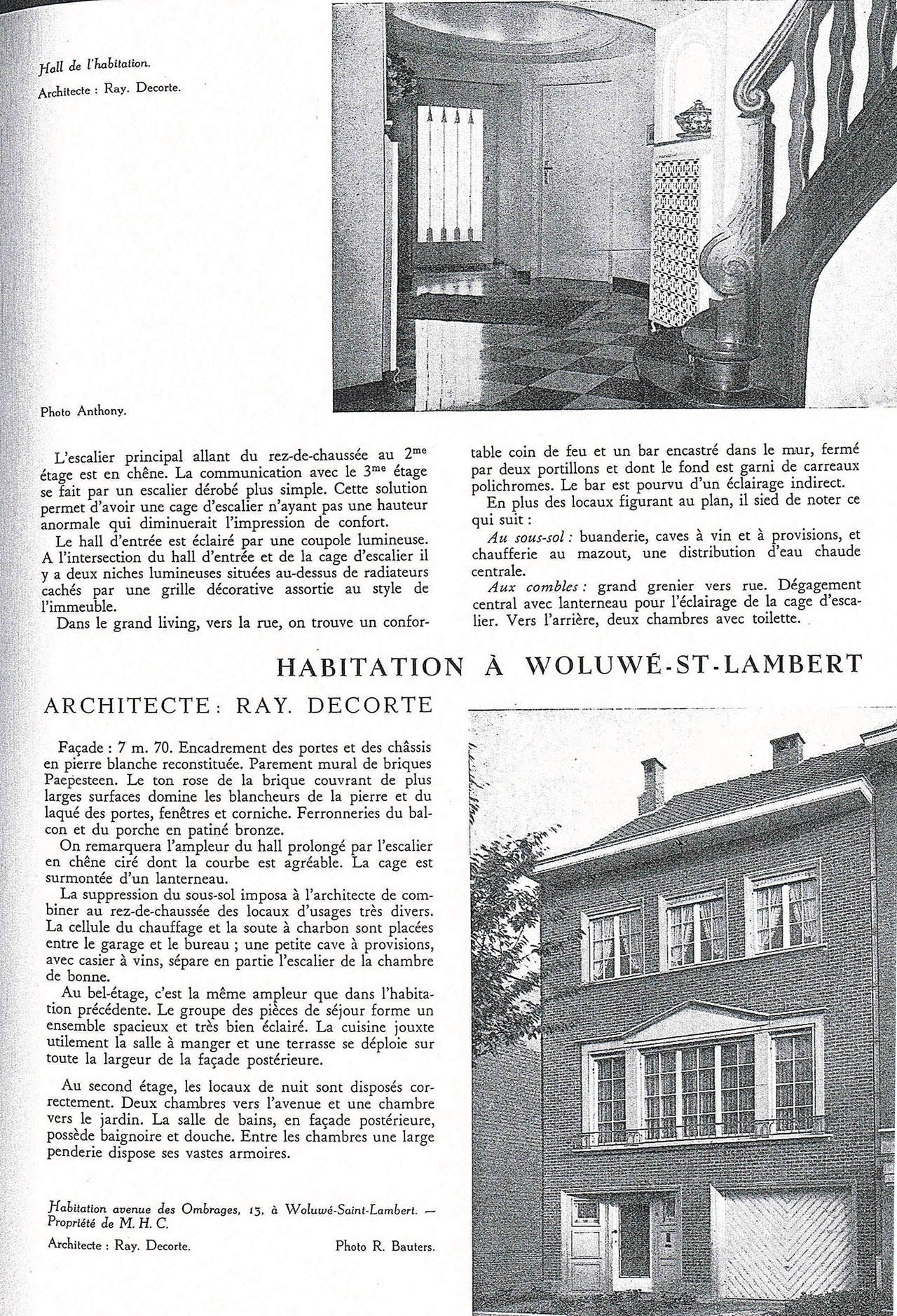 Habitation à Woluwe-St-Lambert