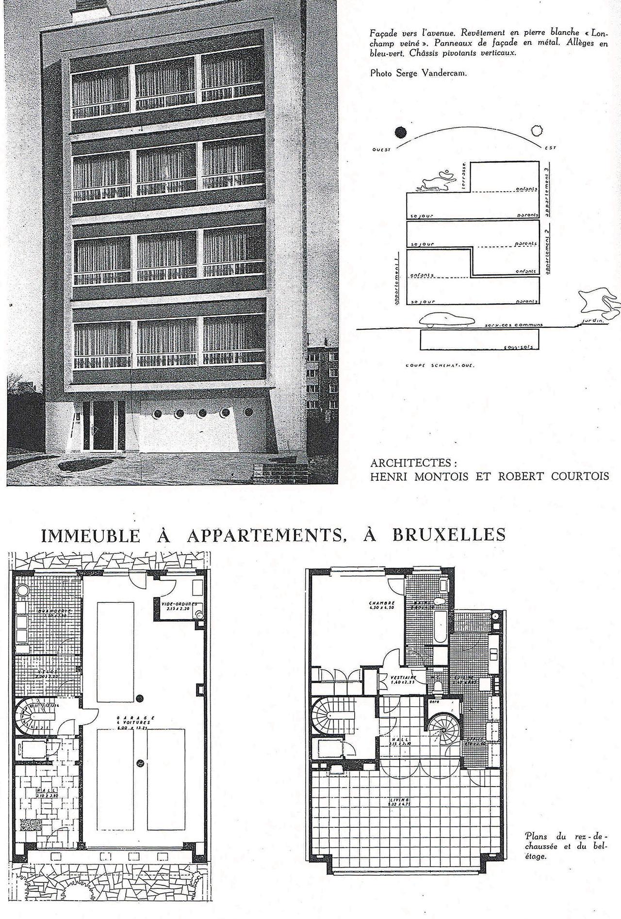 Immeuble à appartements, à Bruxelles