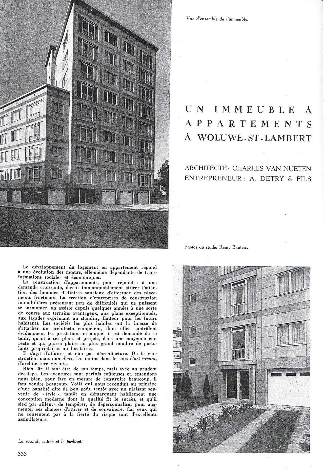 Un immeuble à appartements à Woluwé-St-Lambert