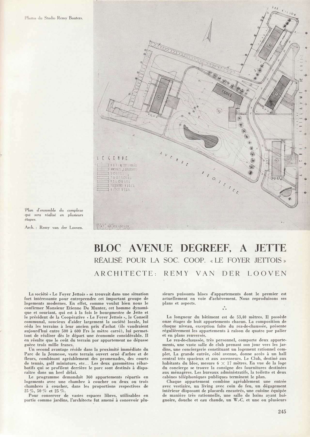 Bloc Avenue Degreef, à Jette