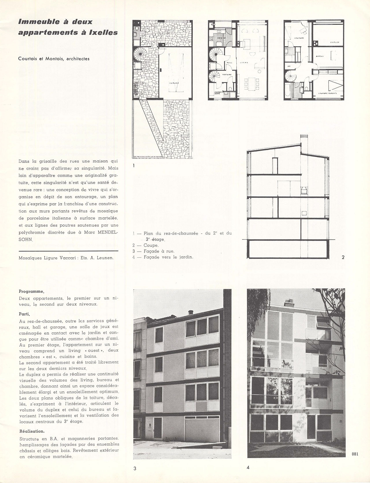 Immeuble à deux appartements à Ixelles