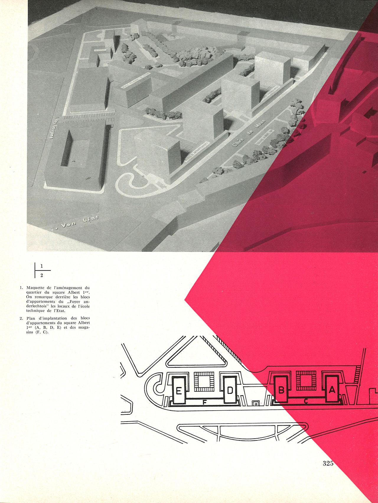Le complexe du square Albert Ier à Anderlecht