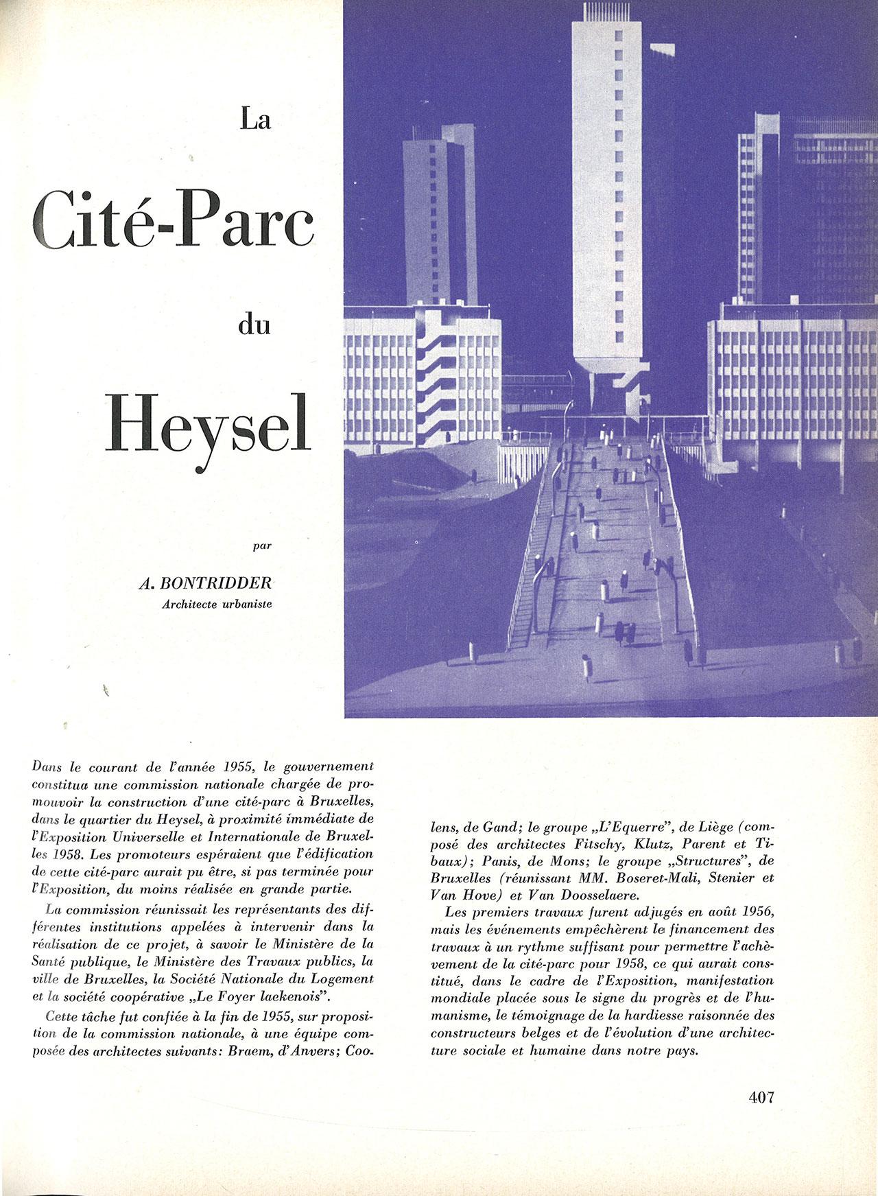 La cité-parc du Heysel