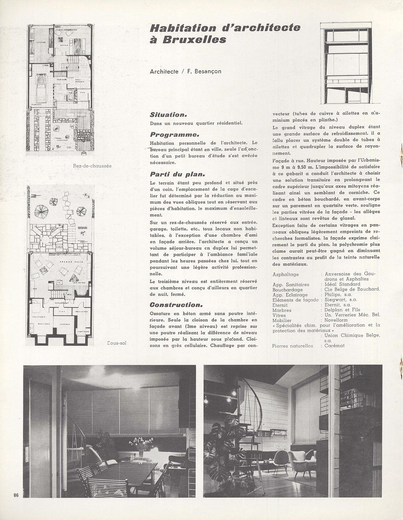 Habitation d'architecte à Bruxelles