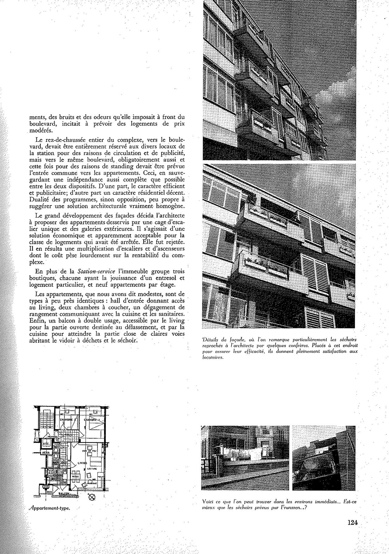Station service et appartements modestes