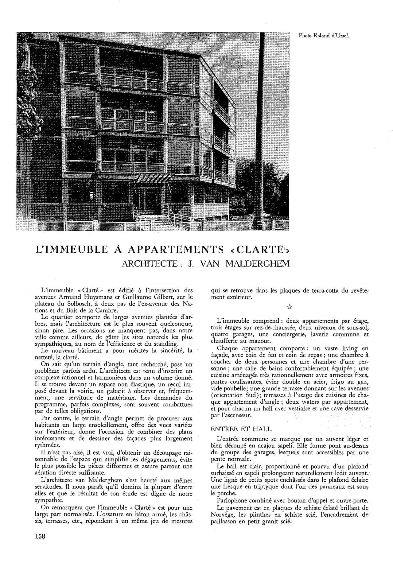 Immeuble à appartements «Clarté»