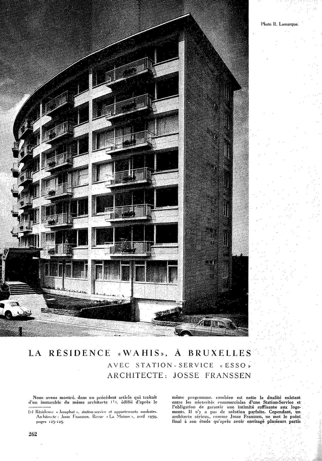 La résidence Wahis, à Bruxelles