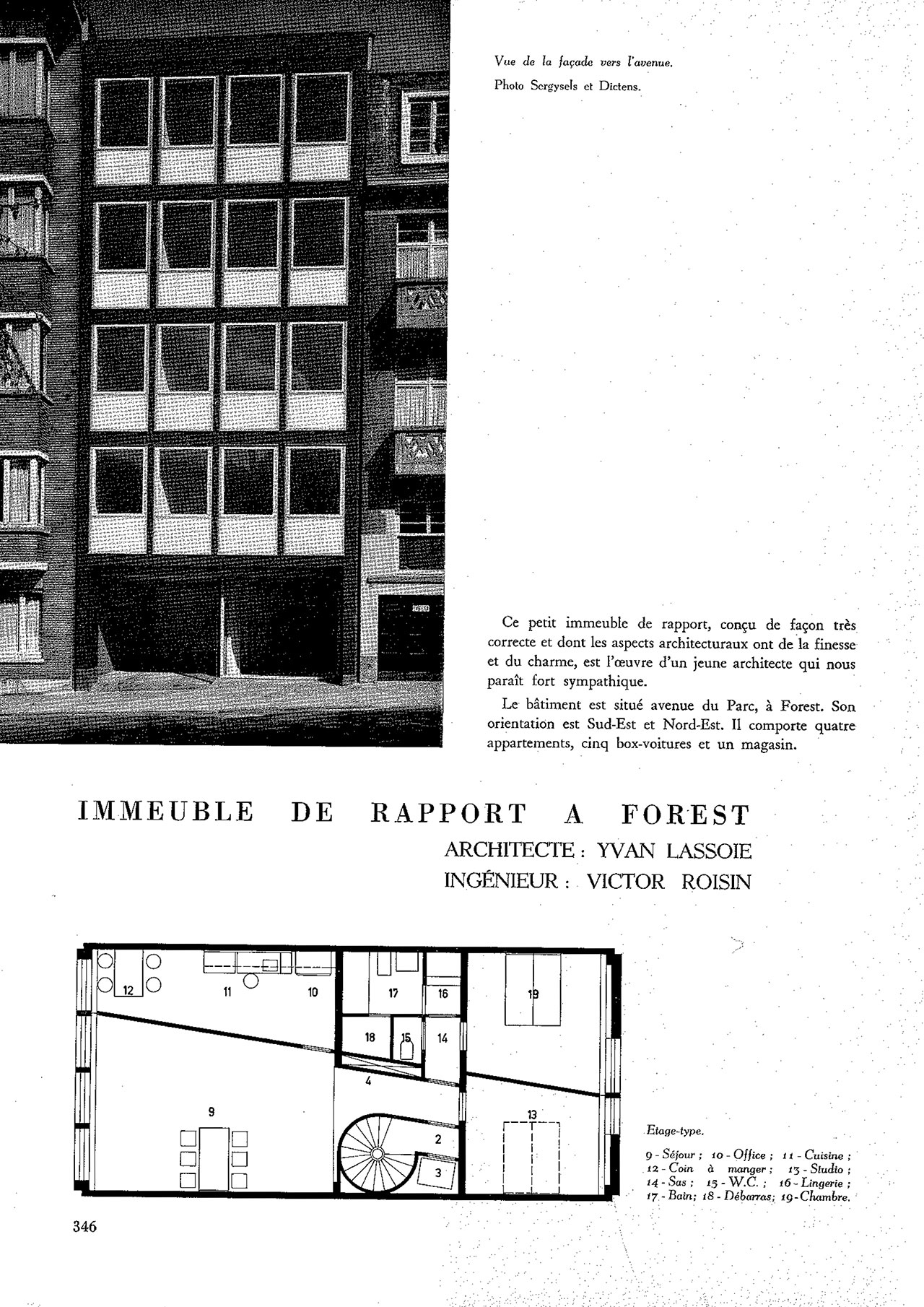 Immeuble de rapport à Forest