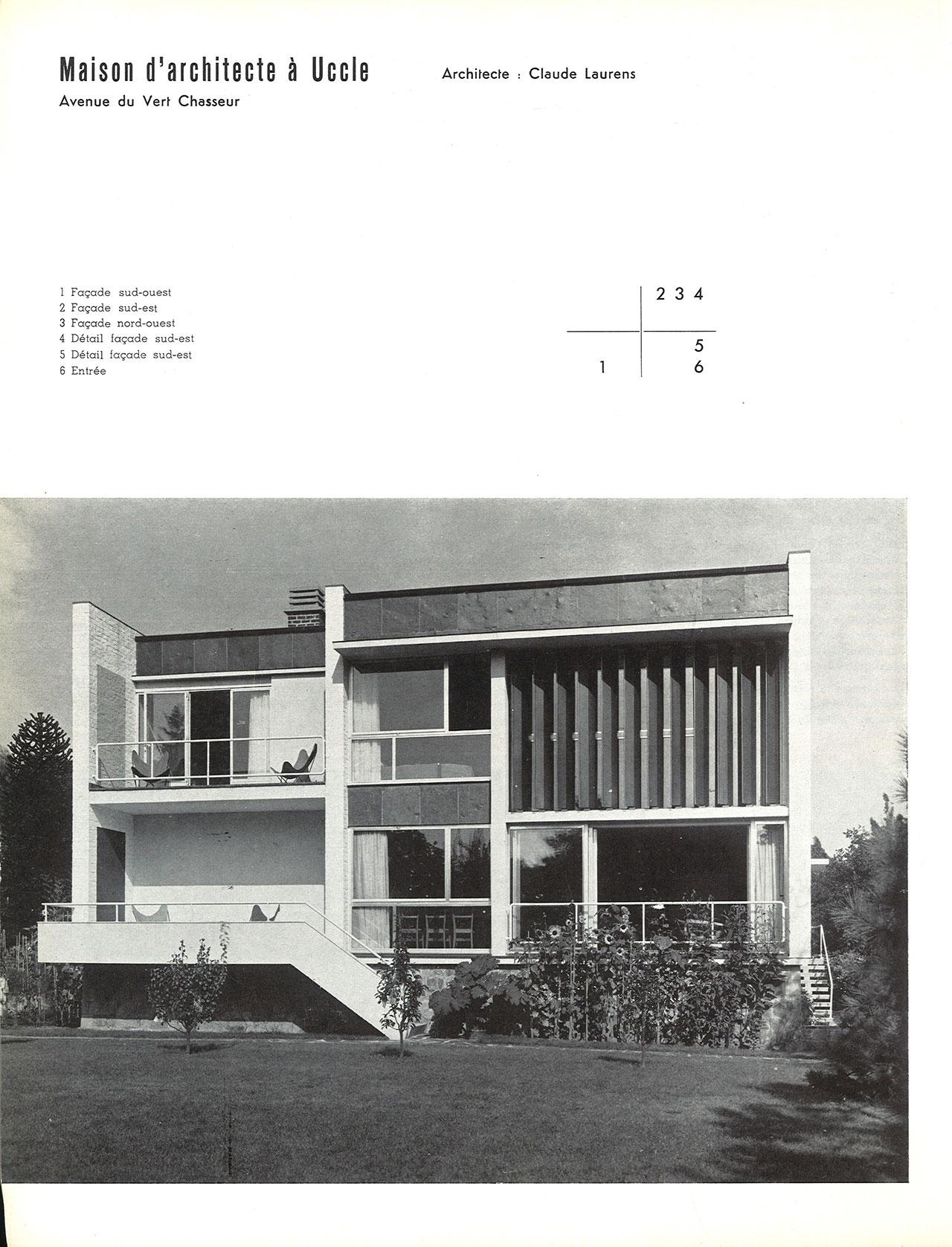 Maison d architecte uccle avenue du vert chasseur for Ma maison mon architecte