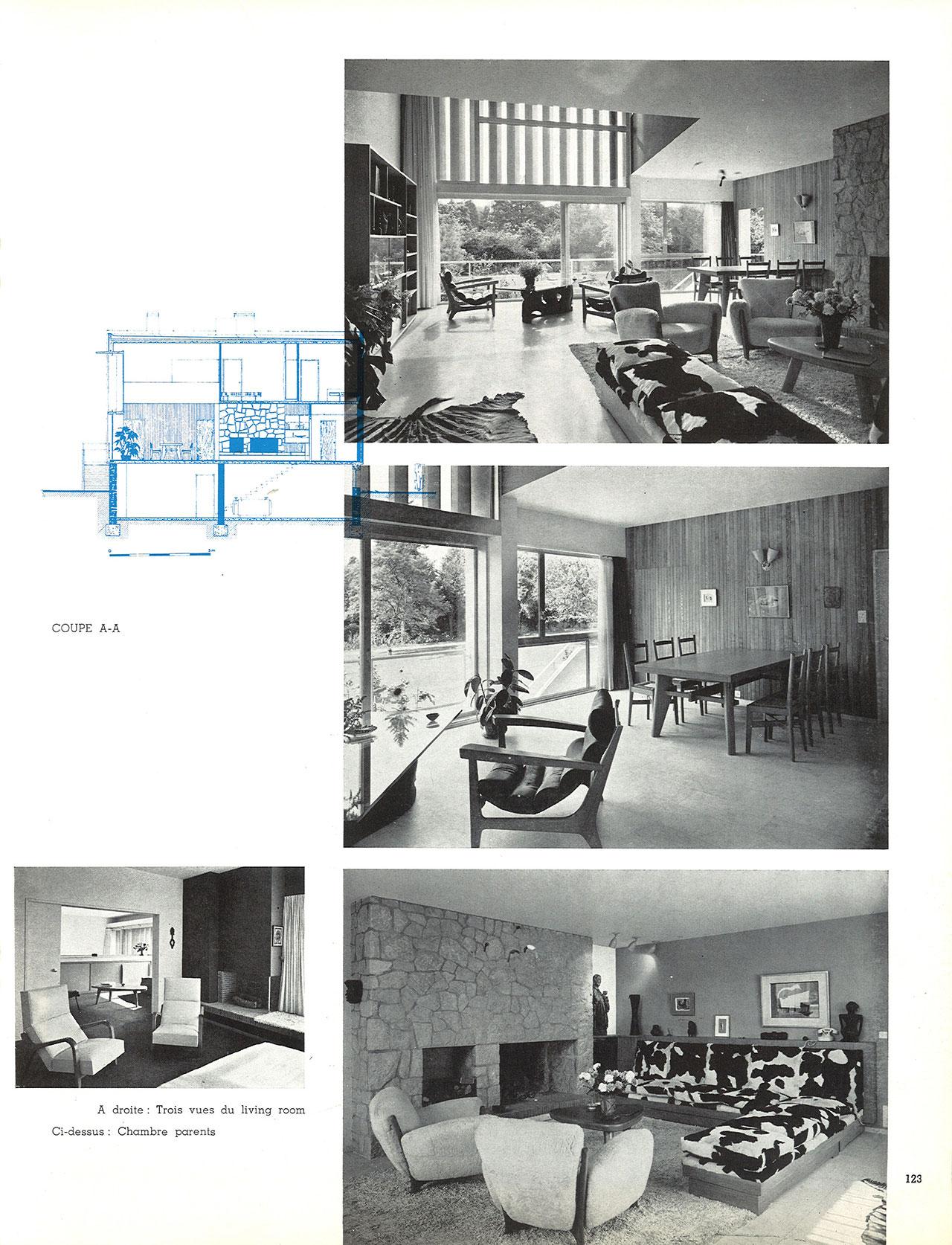 Maison d'architecte à Uccle, Avenue du Vert Chasseur